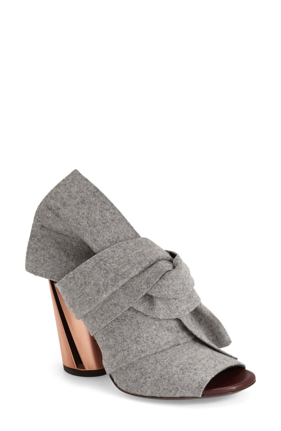 Alternate Image 1 Selected - Proenza Schouler Knotted Peep Toe Bootie (Women)