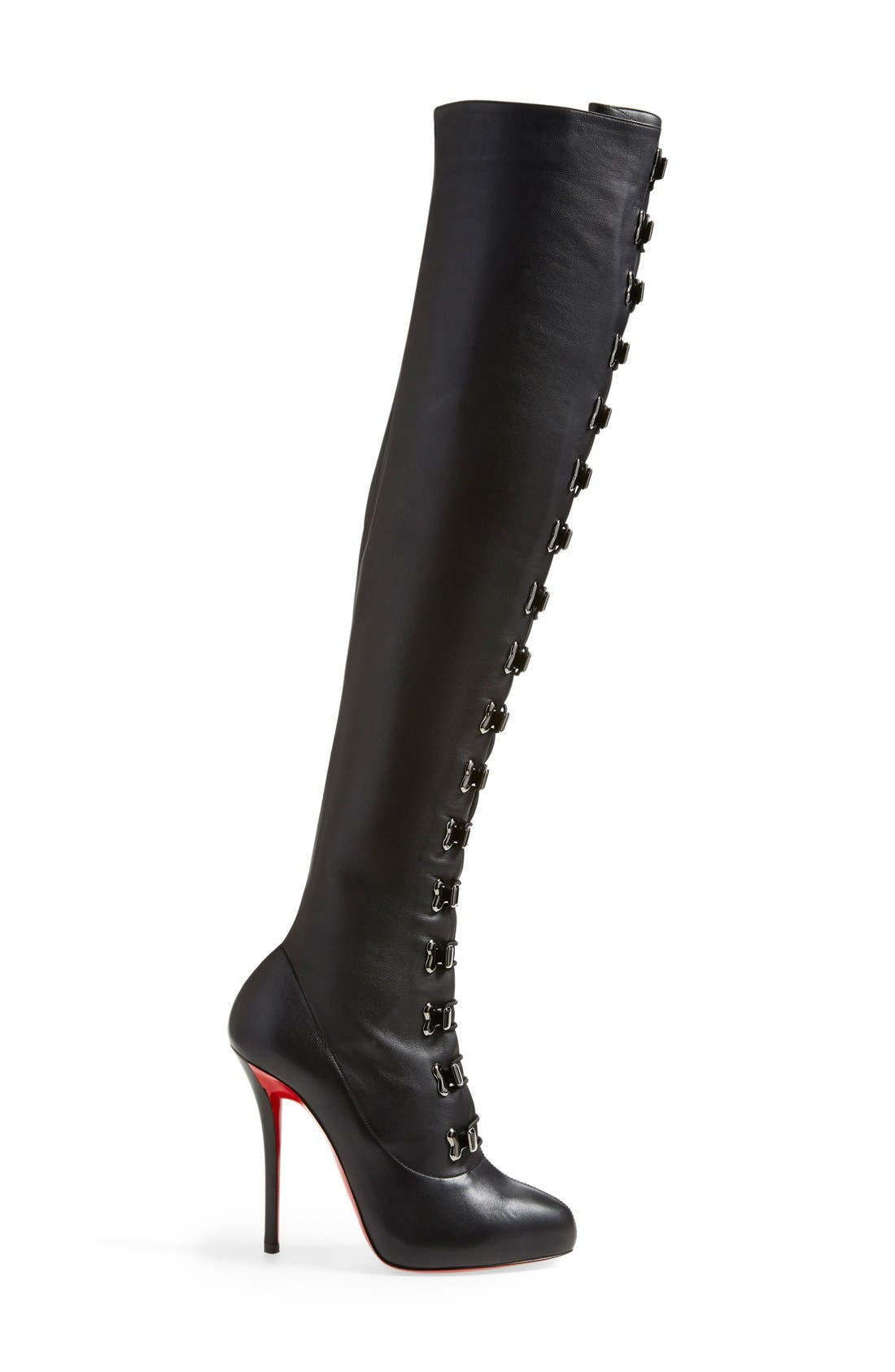 Alternate Image 4  - Christian Louboutin 'Top Croche' Over the Knee Boot