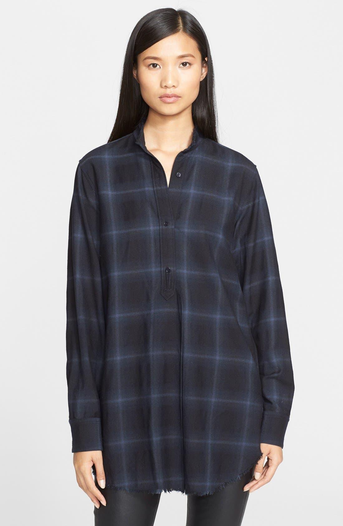 Main Image - Helmut Lang Plaid Wool & Cashmere Flannel Shirt