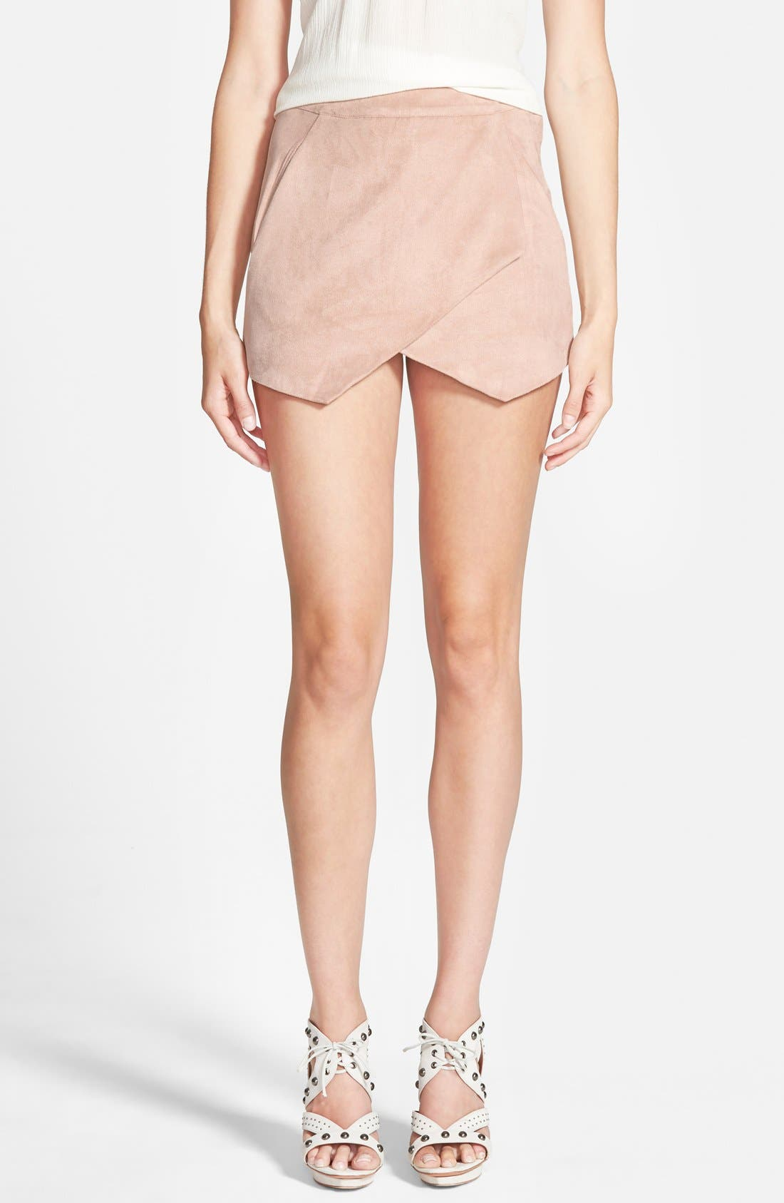 Main Image - Missguided Faux Suede Skort