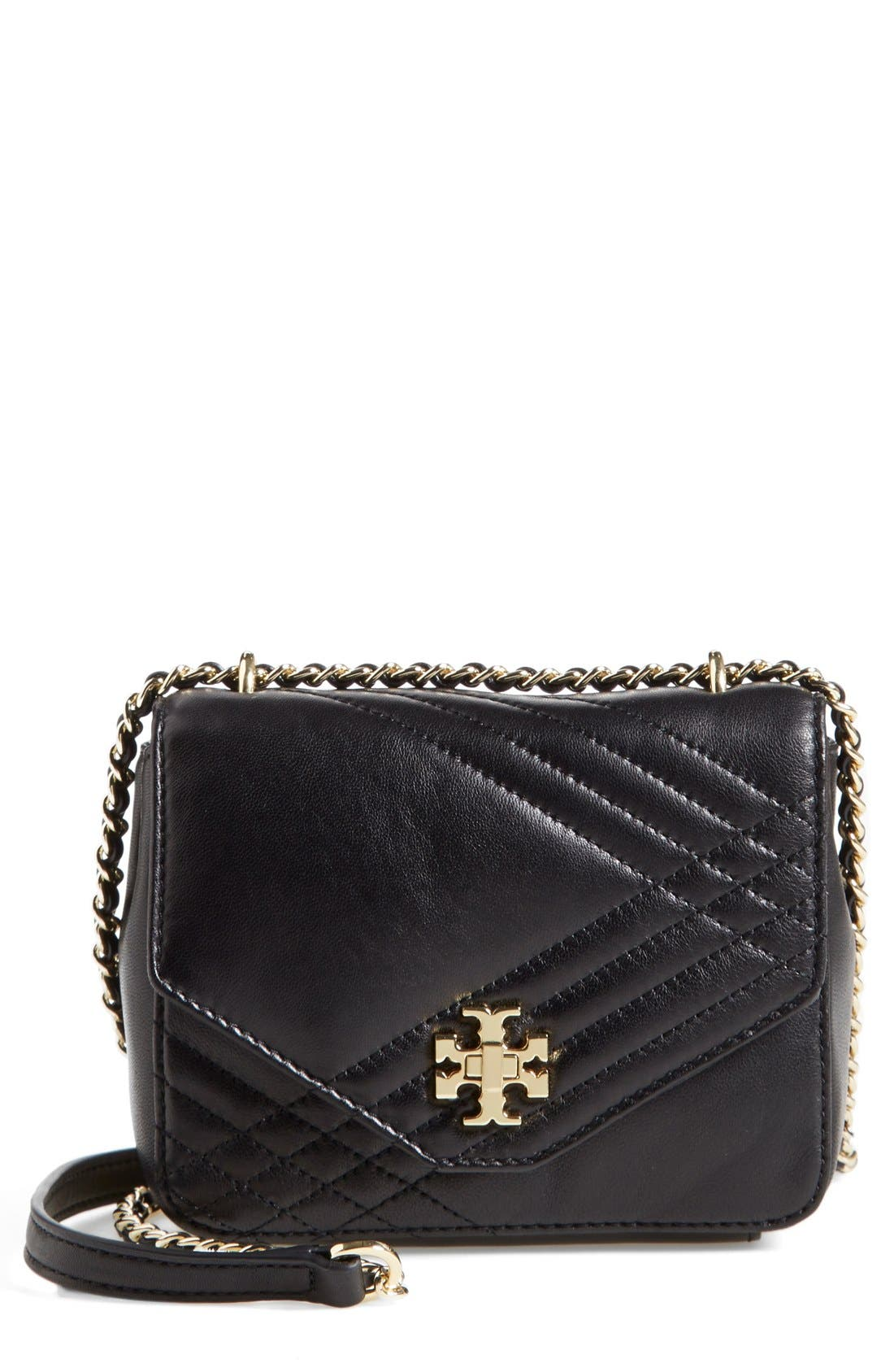 Main Image - Tory Burch 'Mini Kira' Quilted Crossbody Bag