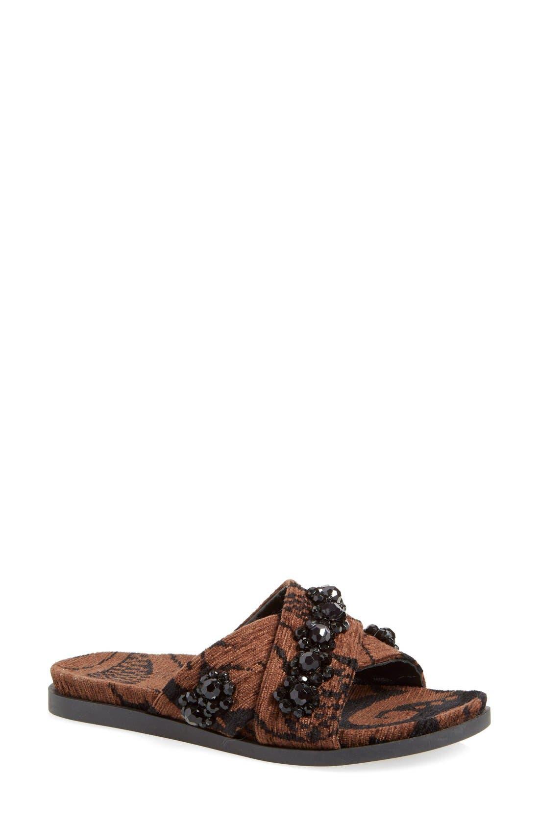 Alternate Image 1 Selected - Simone Rocha Jeweled Slip-On Sandal (Women)