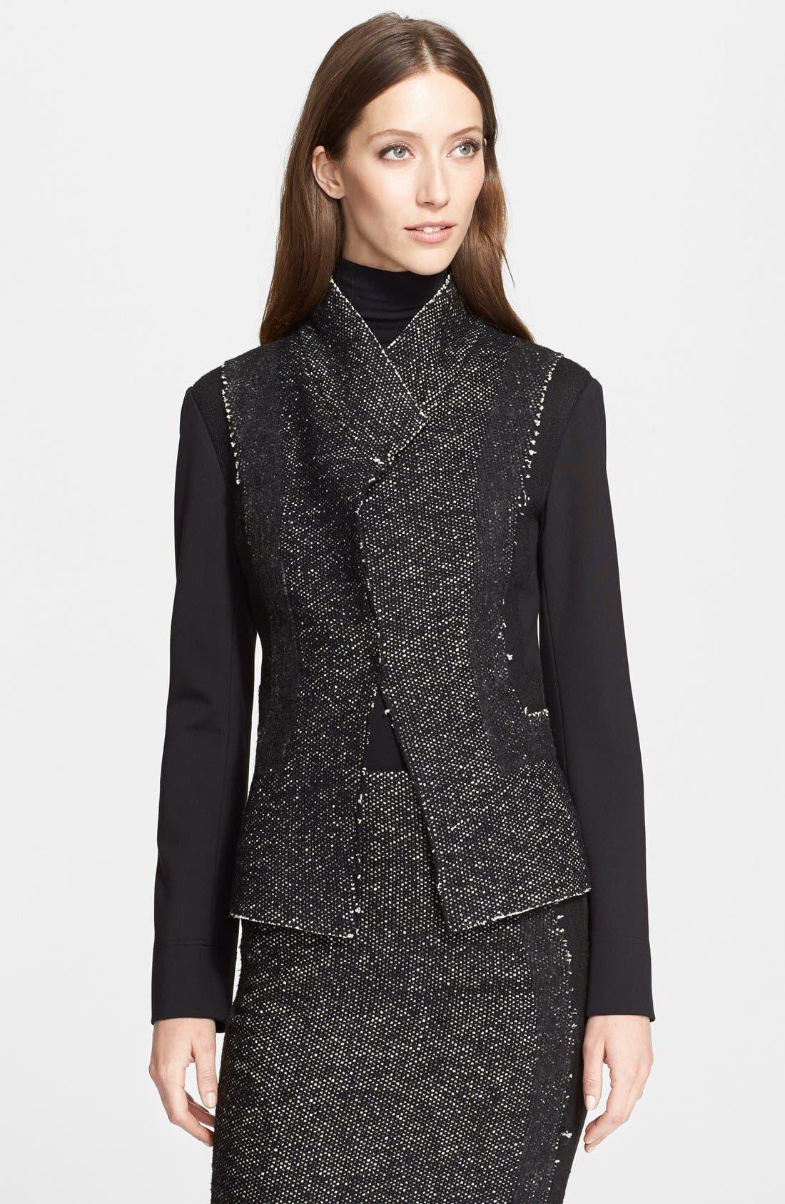 Alternate Image 1 Selected - Donna Karan New York Tweed & Jersey Jacket