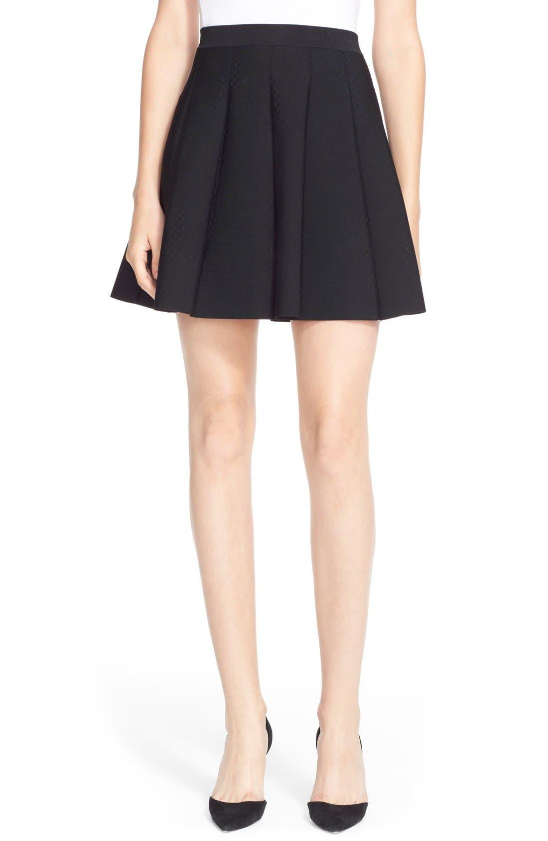 Main Image - Parker 'Zoey' Pleat A-Line Skirt