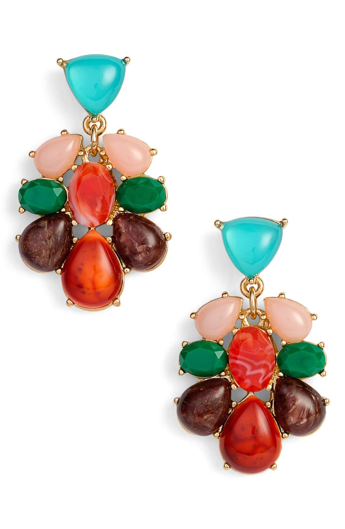 Main Image - katespade new yorkcolorful stonedrop earrings