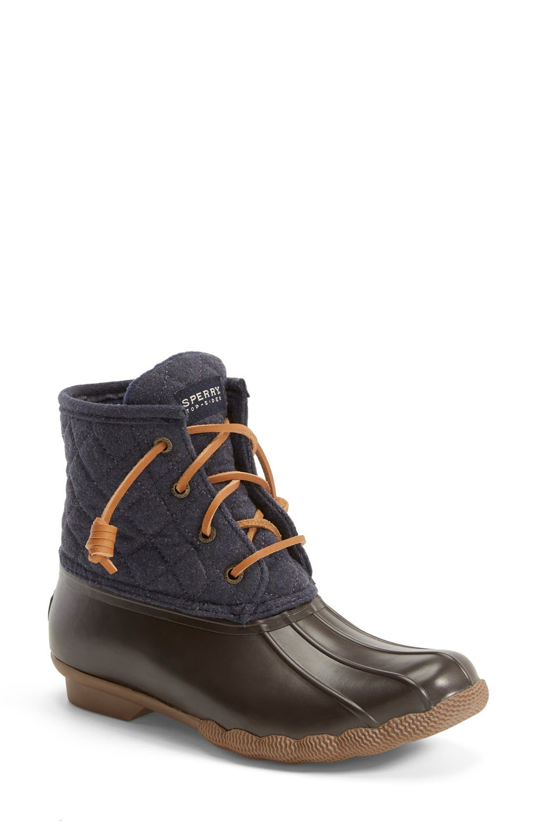 Alternate Image 1 Selected - Sperry 'Saltwater' Waterproof Rain Boot (Women) (Nordstrom Exclusive)