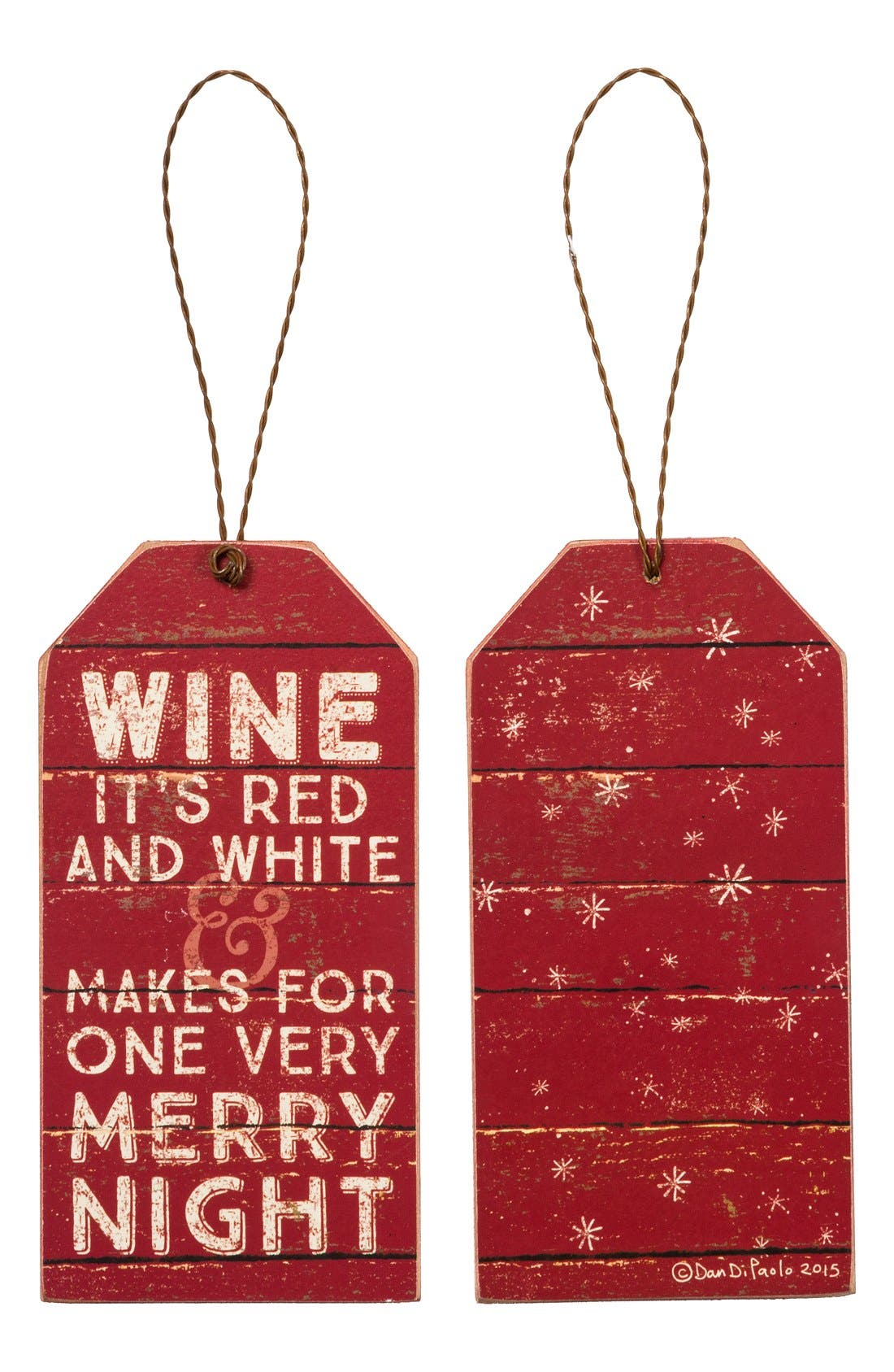 Main Image - Primitives by Kathy 'Merry Night' Wine Bottle Tag
