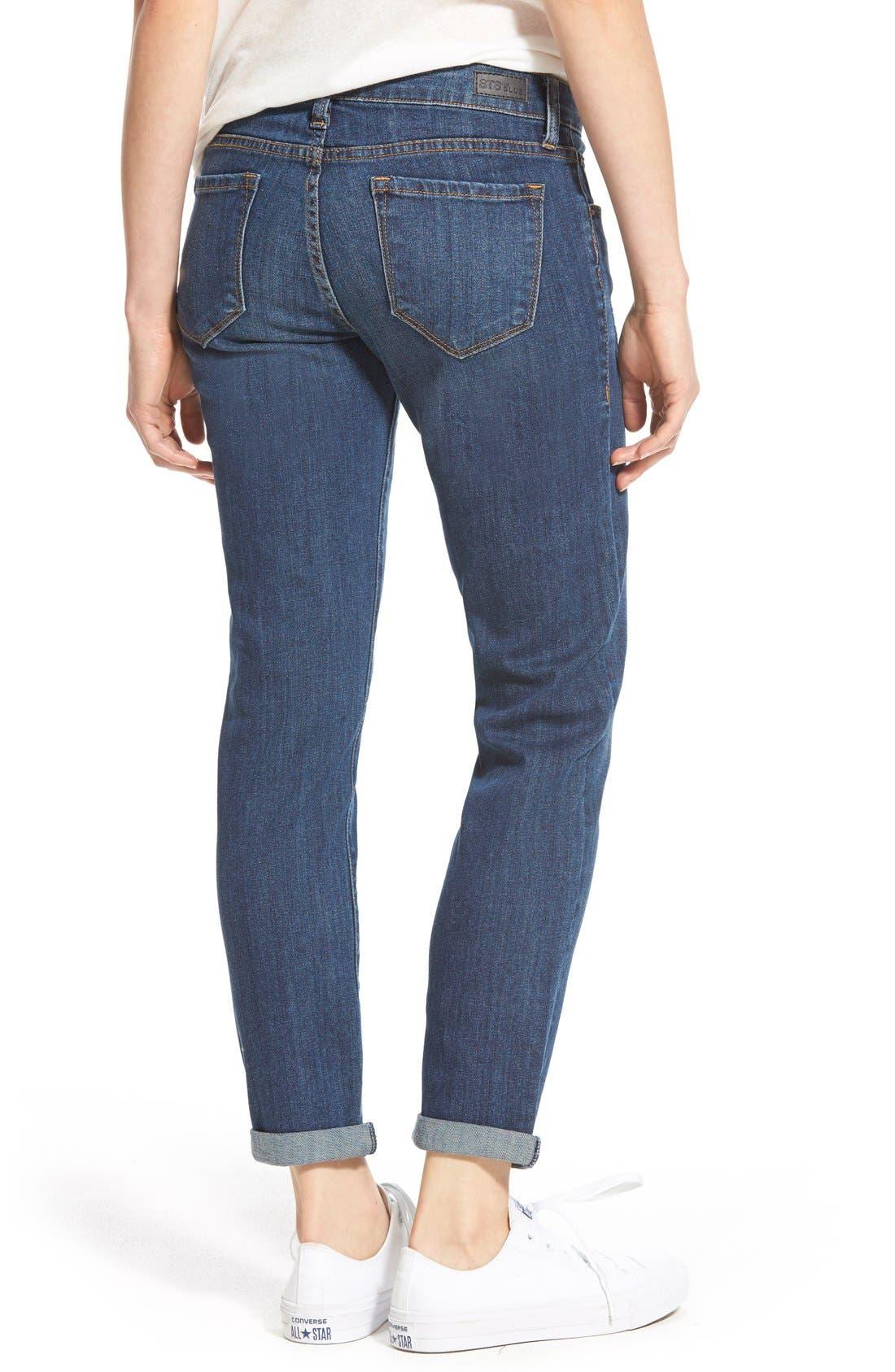 Alternate Image 3  - STSBlue 'Joey' Low Rise Boyfriend Jeans (Big Bear)