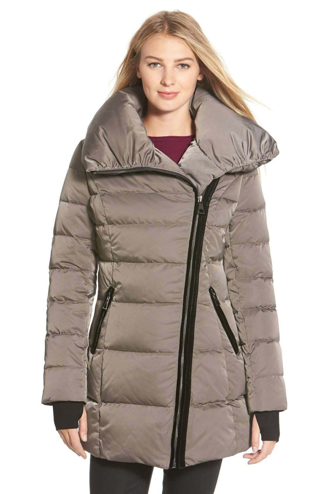 Main Image - Vera Wang 'Blaire' Asymmetrical Quilted Coat