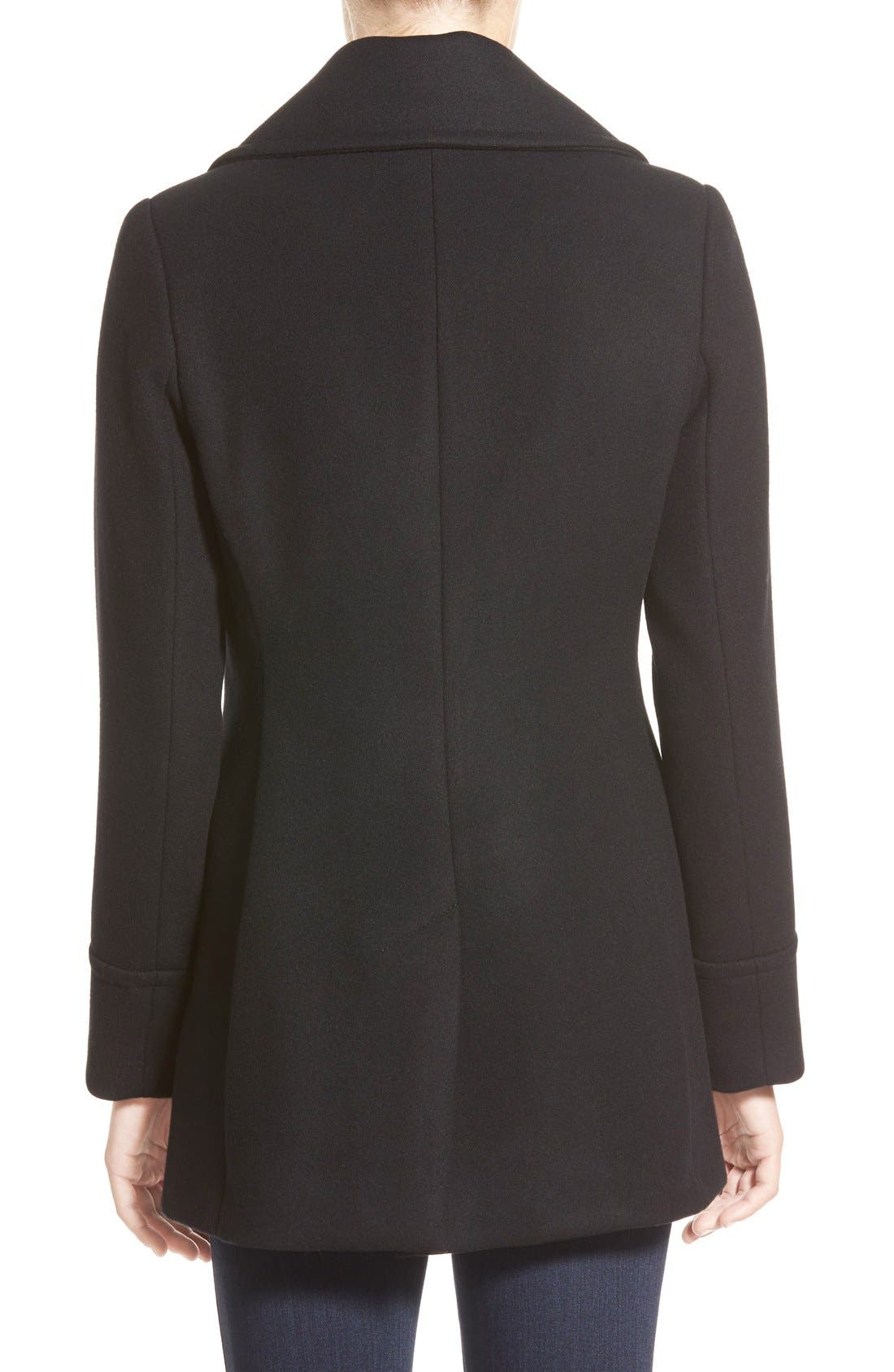 Alternate Image 2  - Pendleton'Cascades' Double Breasted Wool Blend Peacoat