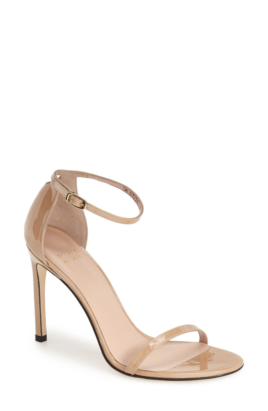Alternate Image 1 Selected - Stuart Weitzman Nudistsong Ankle Strap Sandal (Women)