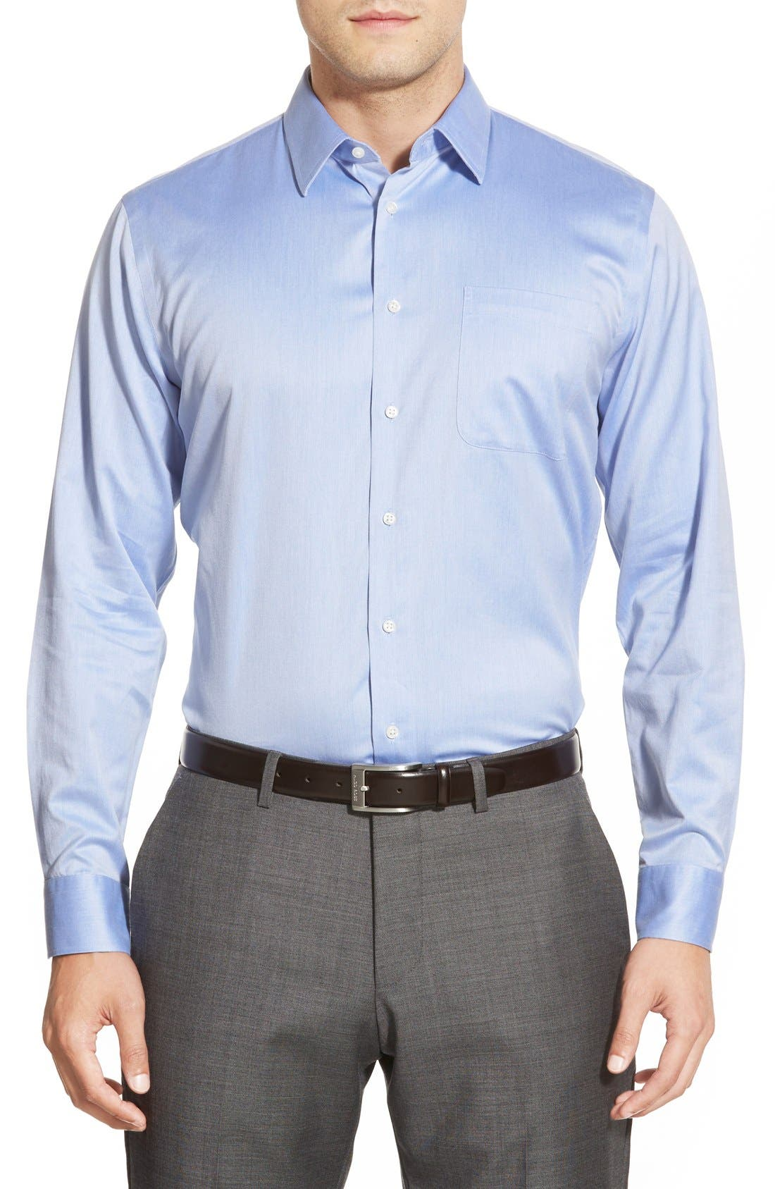 Alternate Image 2  - Nordstrom Men's Shop Smartcare™ Trim Fit Twill Dress Shirt