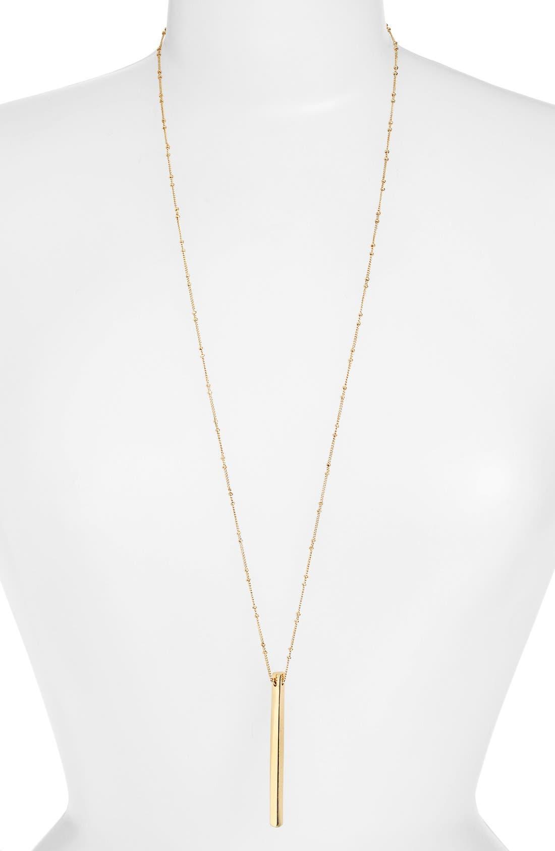 Alternate Image 2  - BP. Bar Pendant Necklace