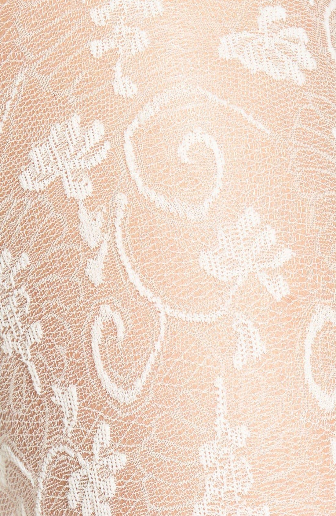 Alternate Image 2  - Oroblu 'Estella' Floral Lace Tights