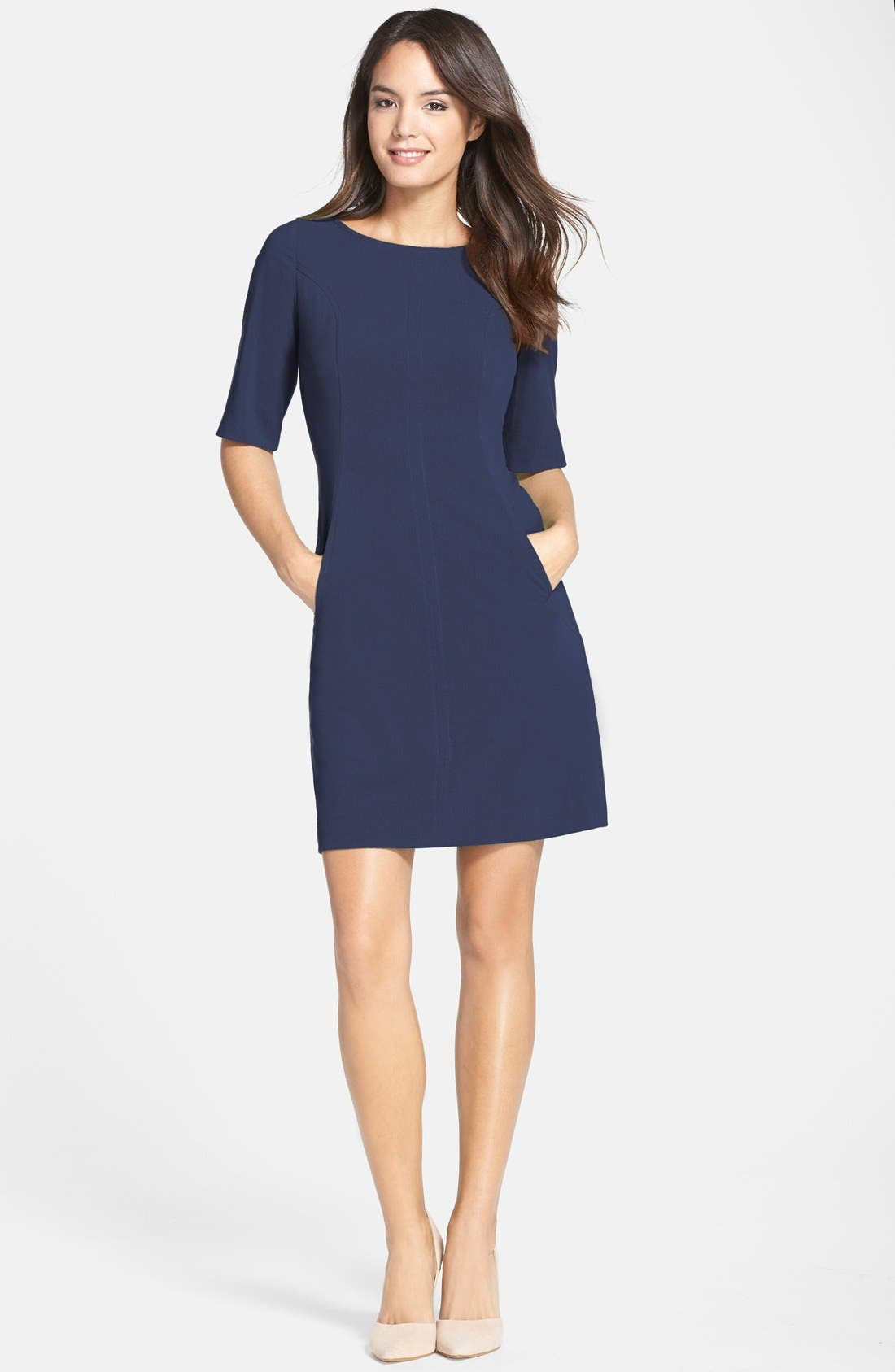 Alternate Image 3  - Tahari Seamed A-Line Dress (Regular & Petite)