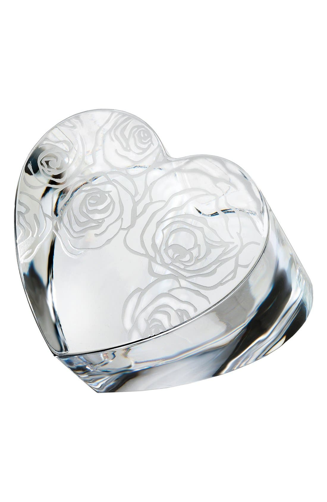 MONIQUE LHUILLIER WATERFORD 'Sunday Rose' Lead Crystal Paperweight