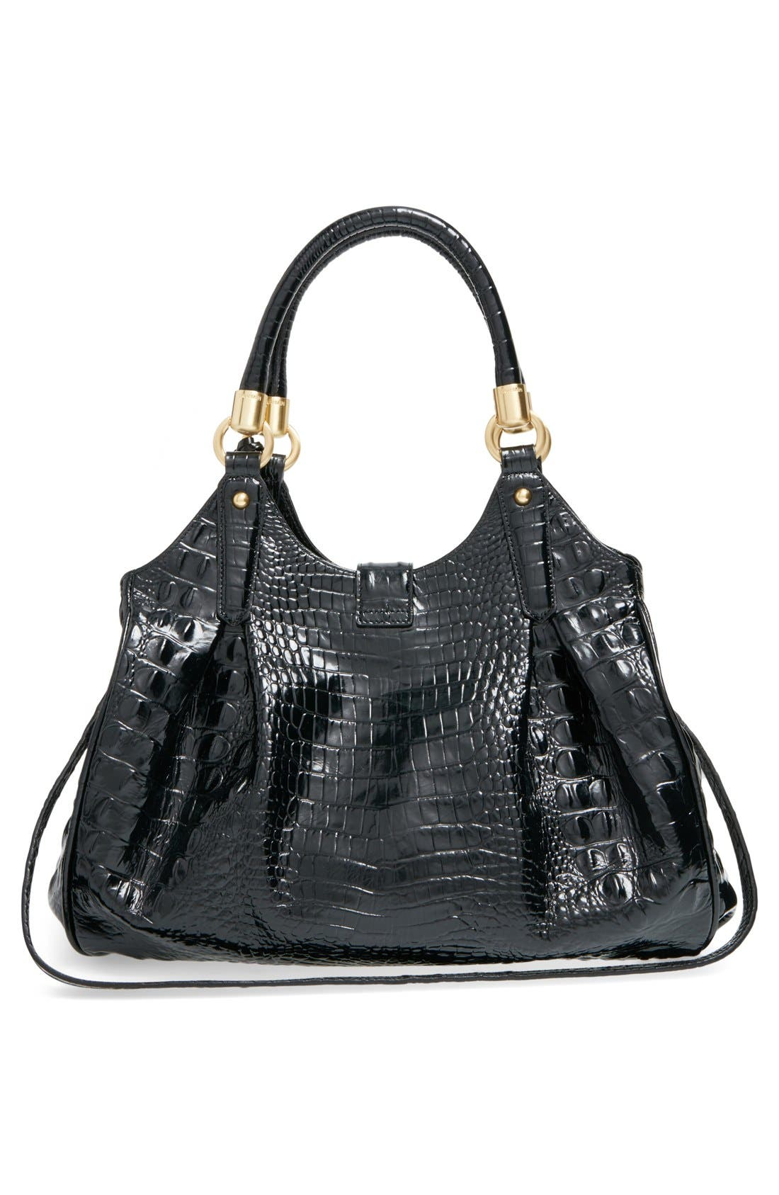 Alternate Image 3  - Brahmin Elisa Croc Embossed Leather Shoulder Bag