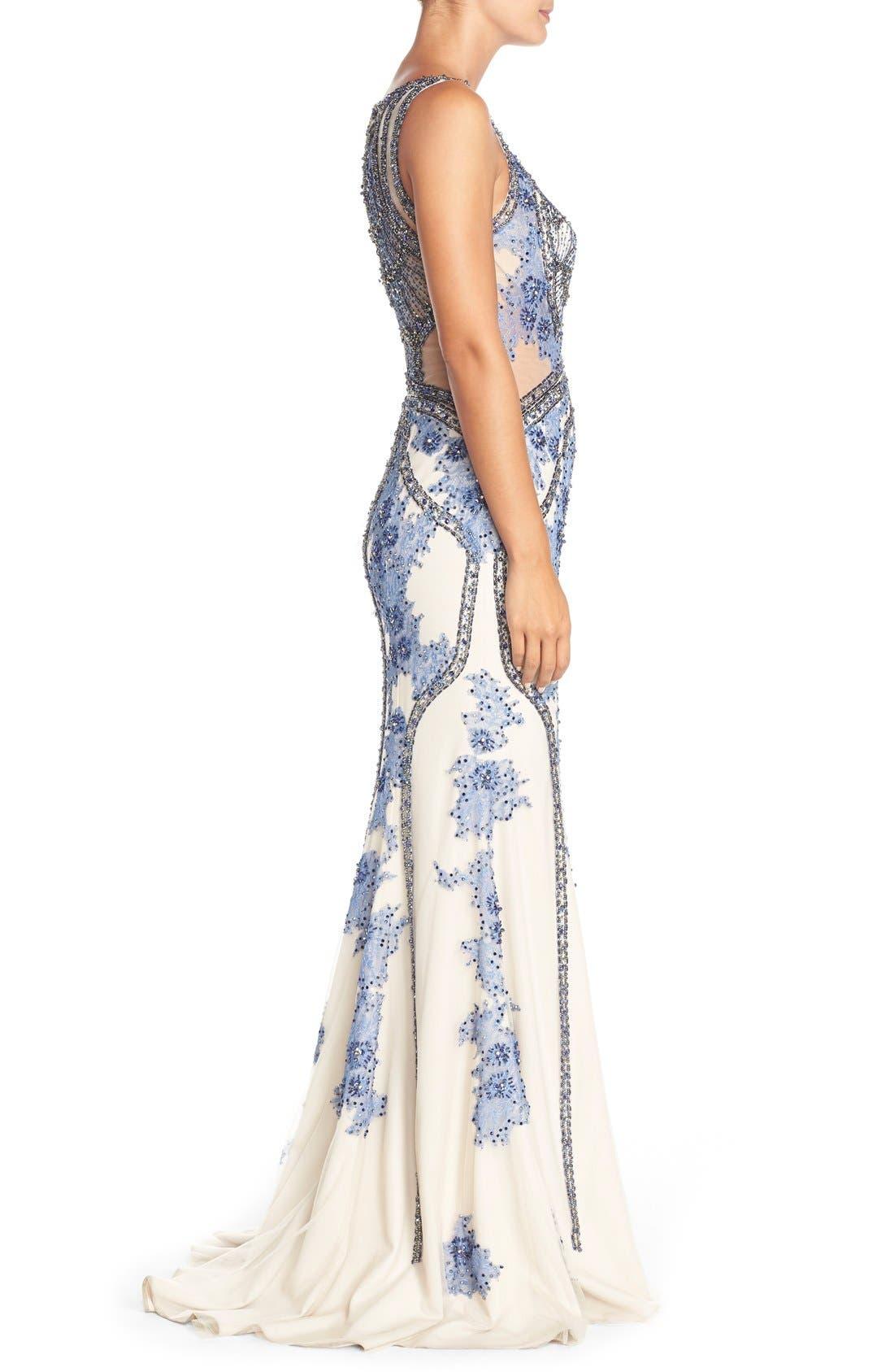 Alternate Image 3  - TeraniCouture Embellished Sleeveless Gown
