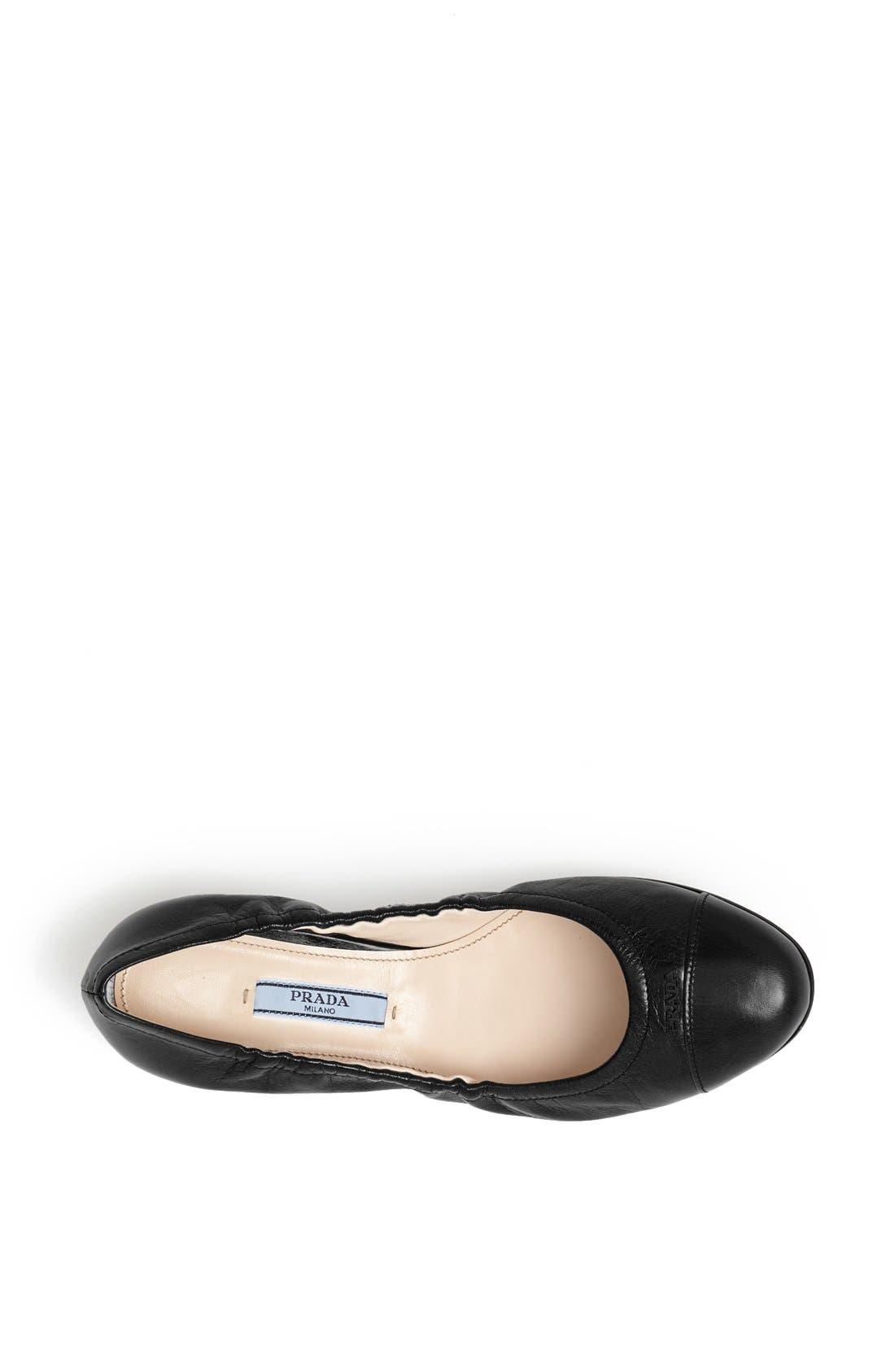Alternate Image 3  - Prada 'Logo' Ballet Flat