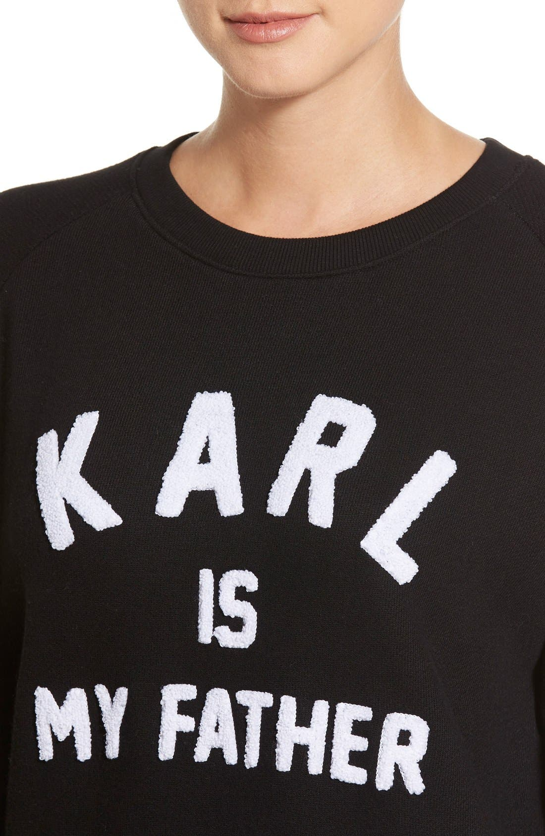 Alternate Image 4  - ELEVENPARIS 'Karl is My Father' Fleece Pullover
