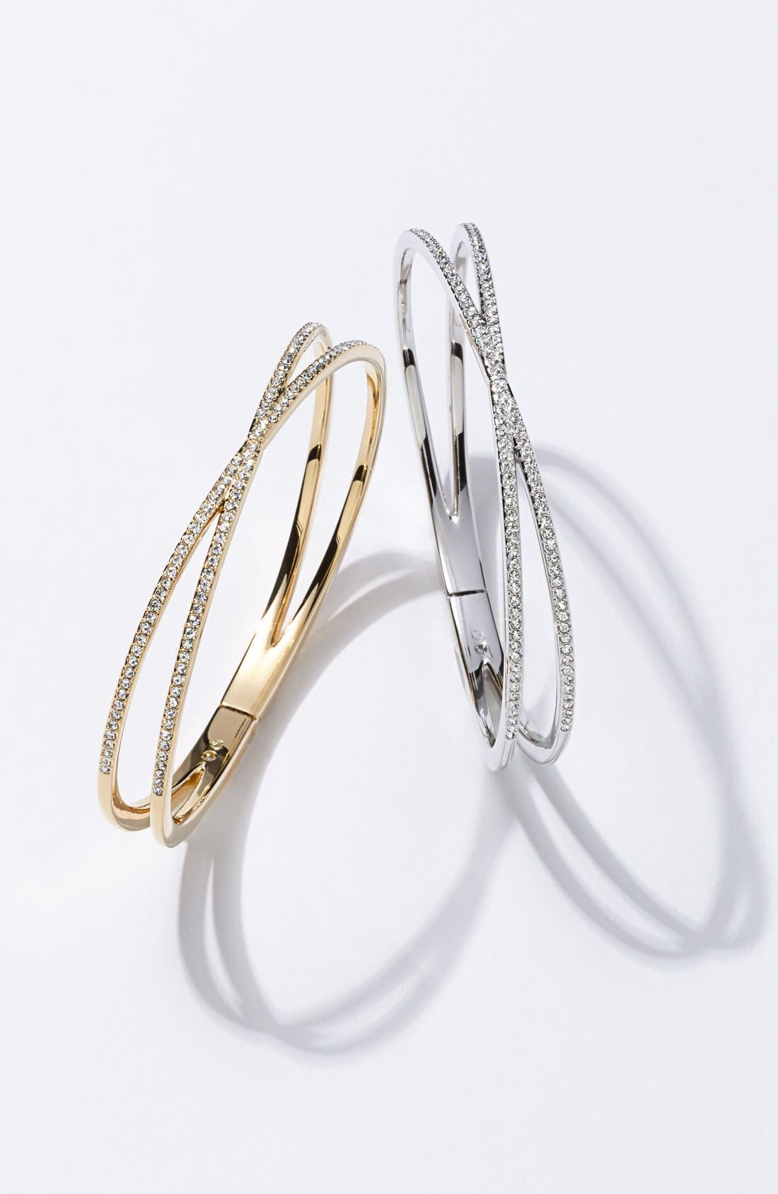 Alternate Image 2  - Nadri Pavé Hinged Crossover Bracelet (Nordstrom Exclusive)
