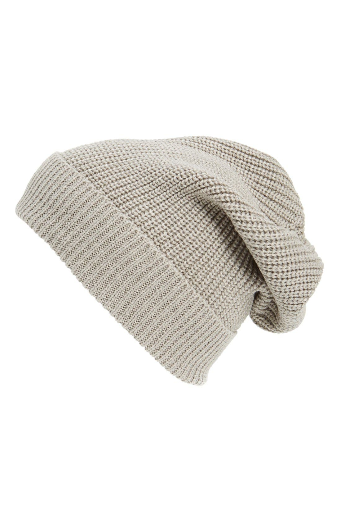Main Image - Phase 3 'Stand Up' Basket Knit Slouchy Beanie