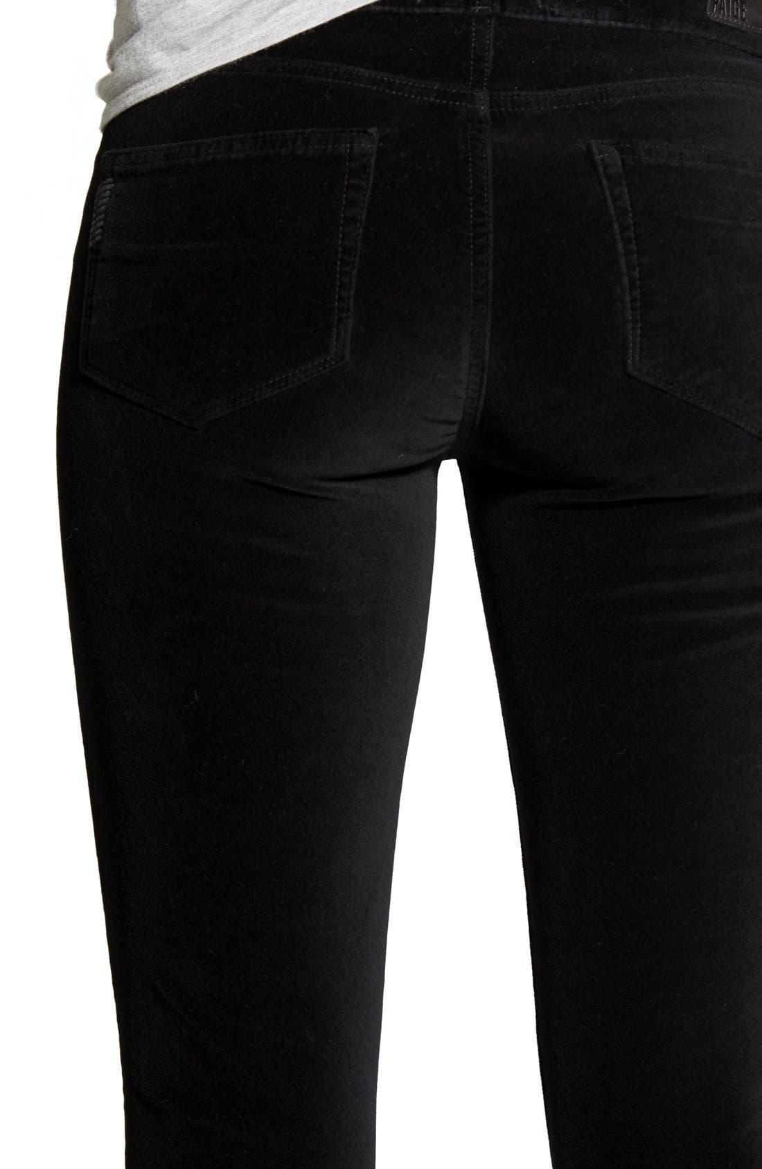 Alternate Image 4  - Paige Denim 'Verdugo' Velvet Skinny Jeans