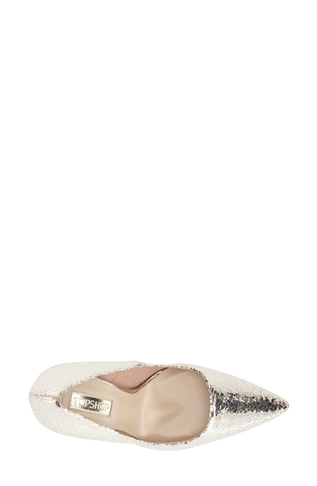 Alternate Image 3  - Topshop 'Gallop' Patent Pointy Toe Pump (Women)