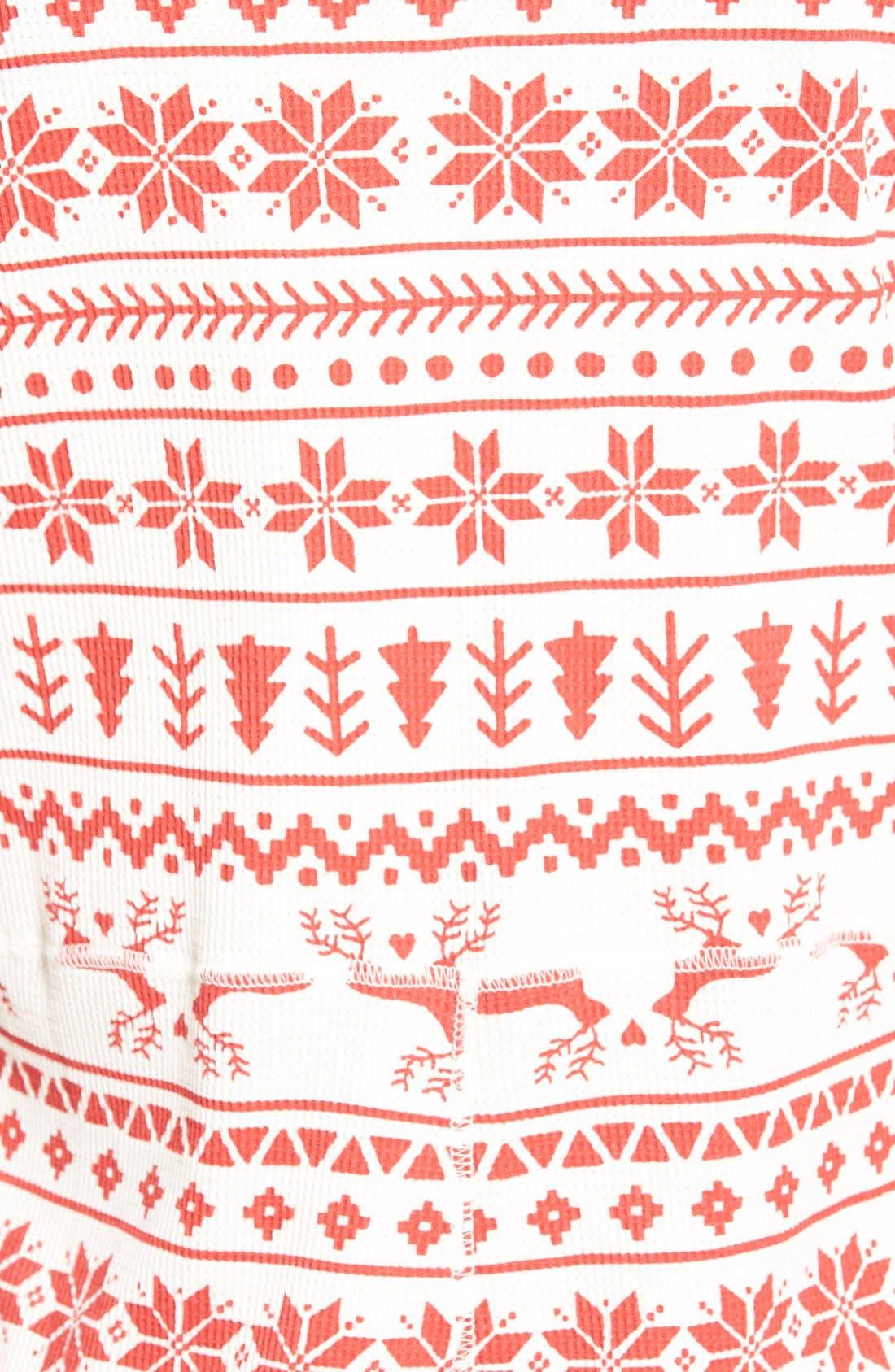 Alternate Image 5  - BP. Undercover Holiday Thermal One-Piece Pajamas