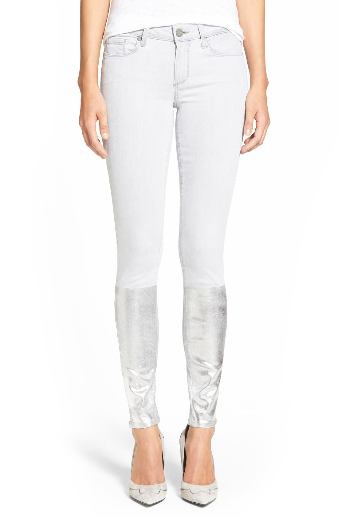 Main Image - PaigeDenim 'Verdugo' Ankle Ultra Skinny Jeans (Light Grey/Silver Solstice)