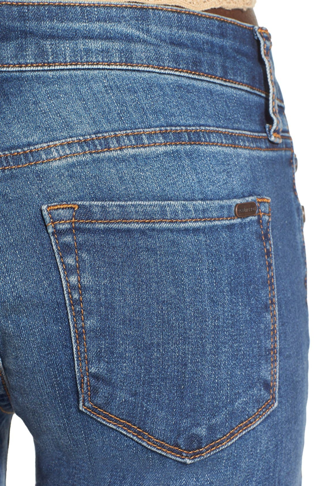 Alternate Image 4  - STS Blue 'Amy' Button Front Super Skinny Jeans