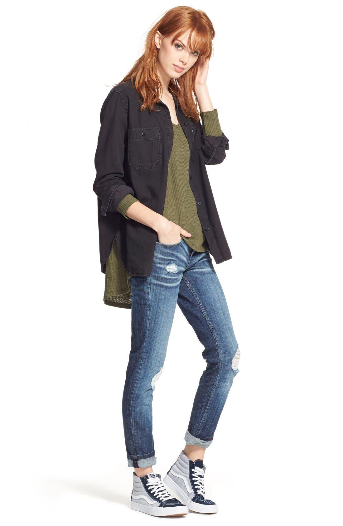 Alternate Image 7  - Vigoss 'Tomboy' Destroyed Skinny Jeans