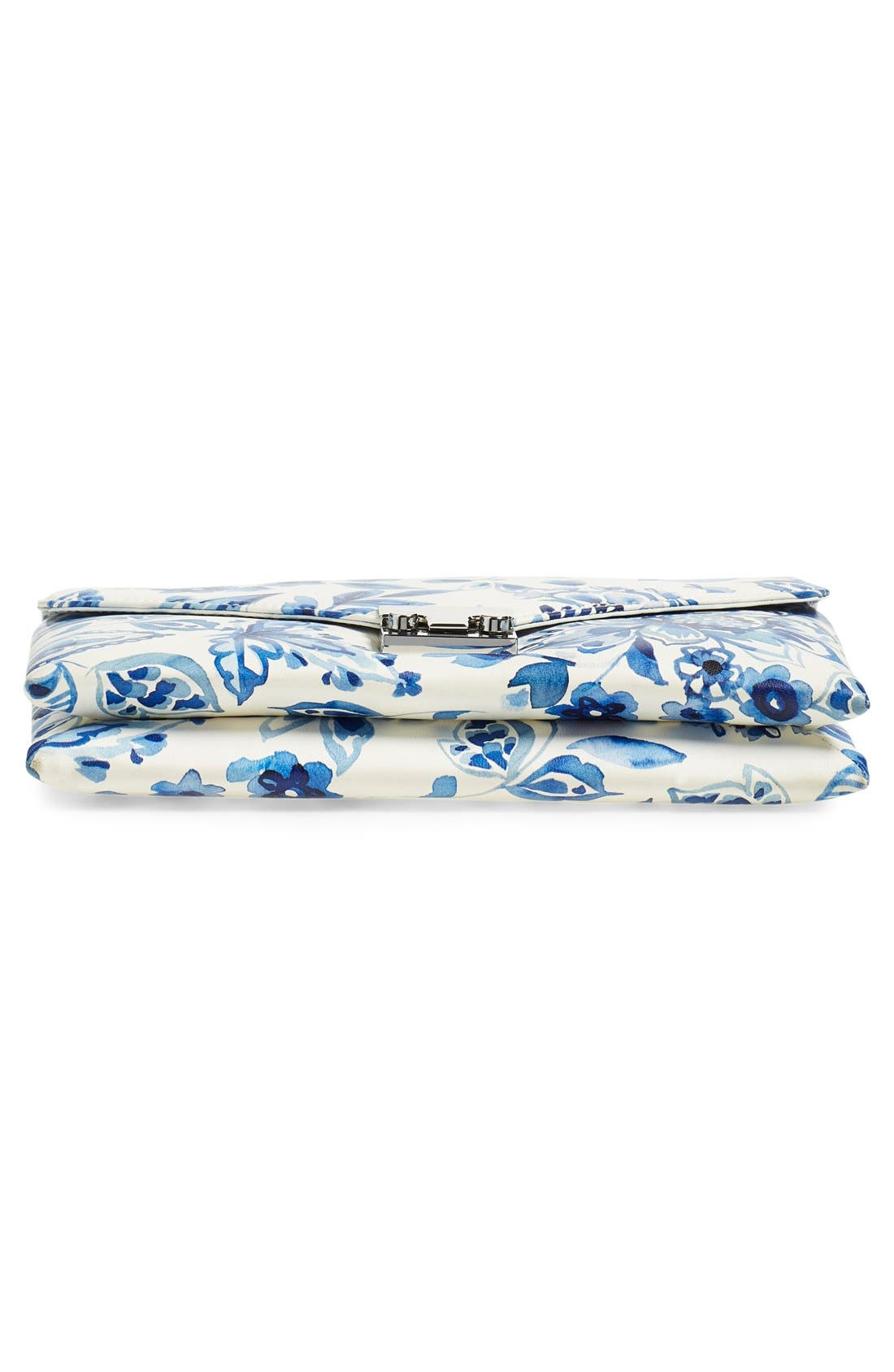 Alternate Image 6  - Loeffler Randall 'Lock' Floral Print Leather Clutch