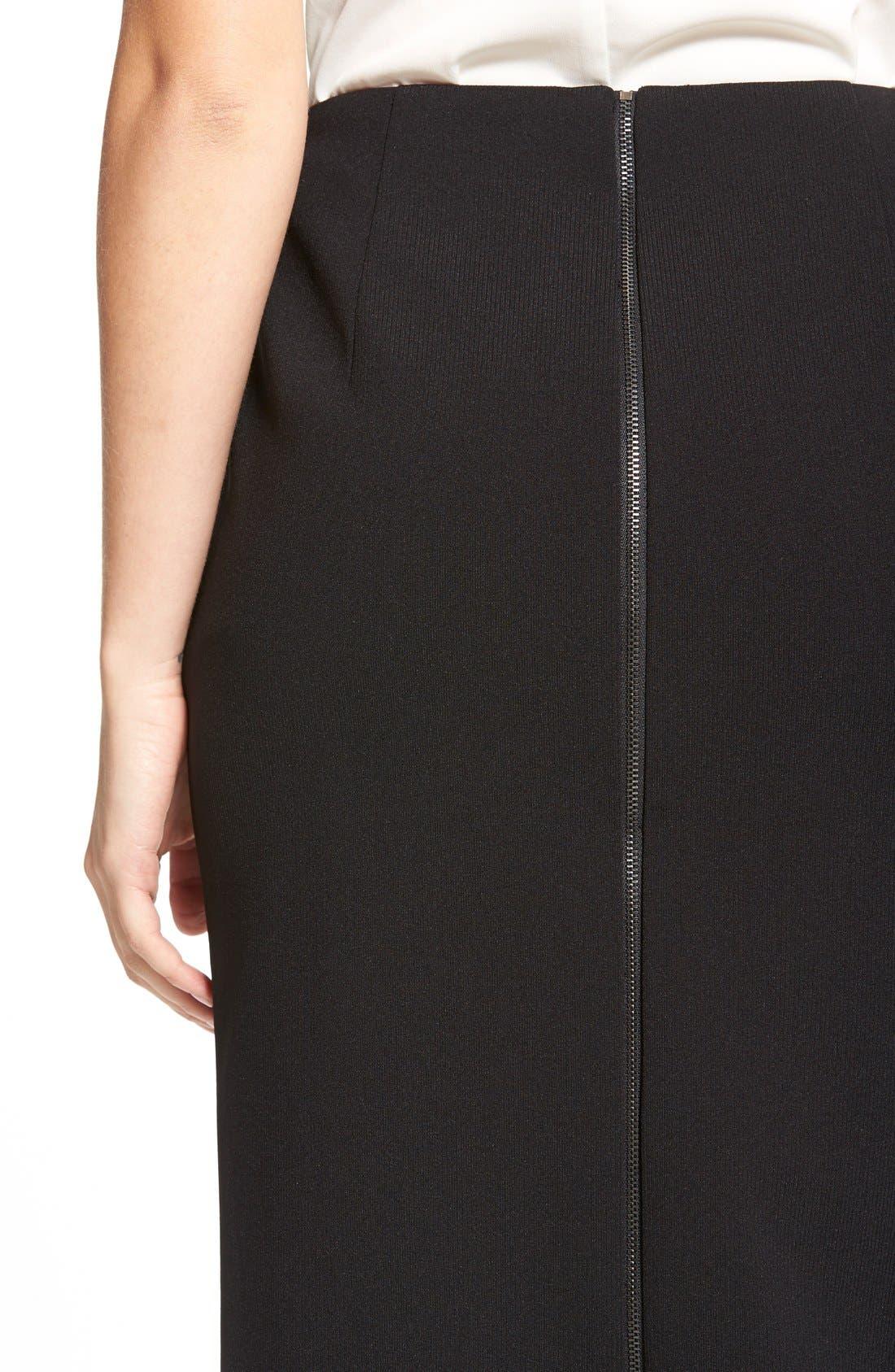 Alternate Image 4  - Classiques Entier® Zip Back Ponte Pencil Skirt