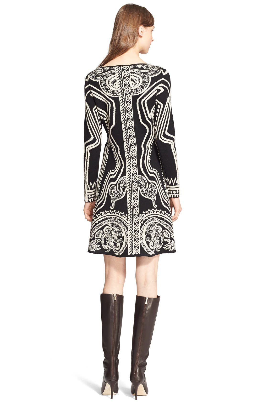 Alternate Image 2  - Etro Paisley Intarsia Knit Long Sleeve Dress