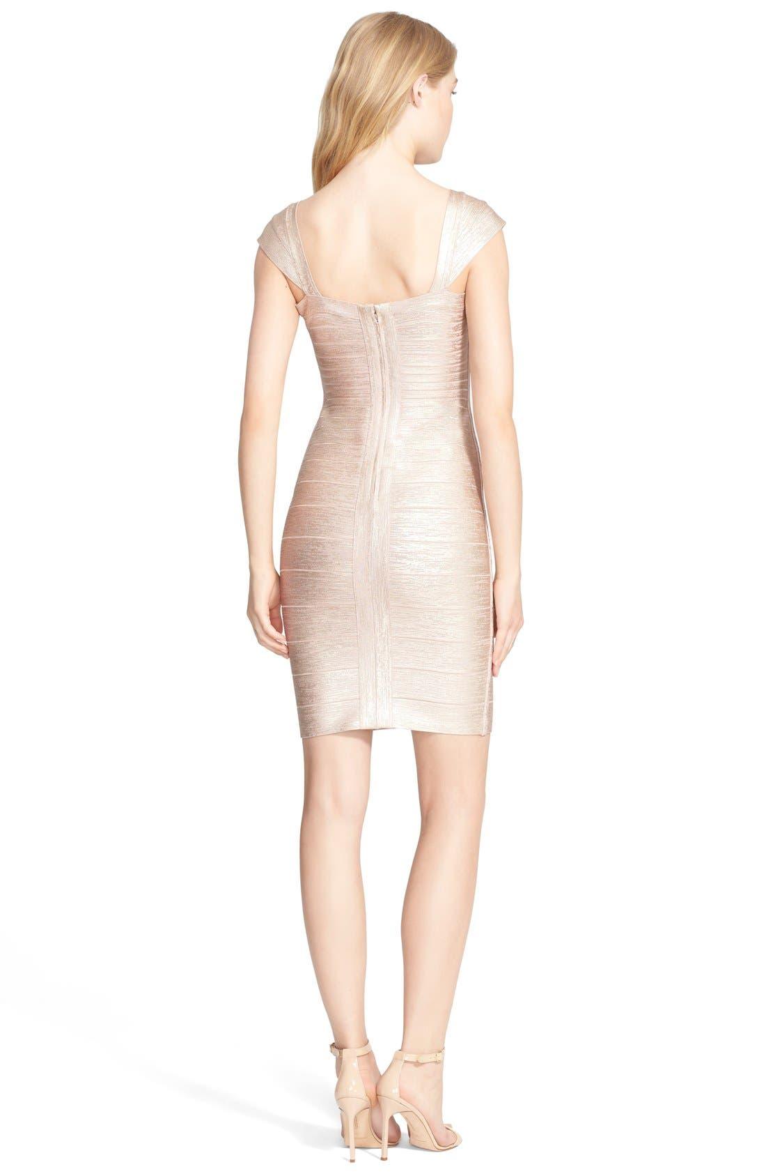 Alternate Image 2  - Herve Leger Foil Body-Con Bandage Dress