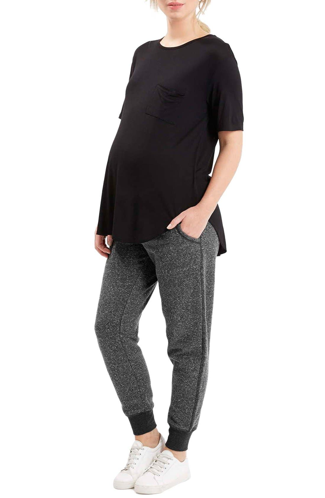 Alternate Image 2  - Topshop Neppy Maternity Jogger Pants