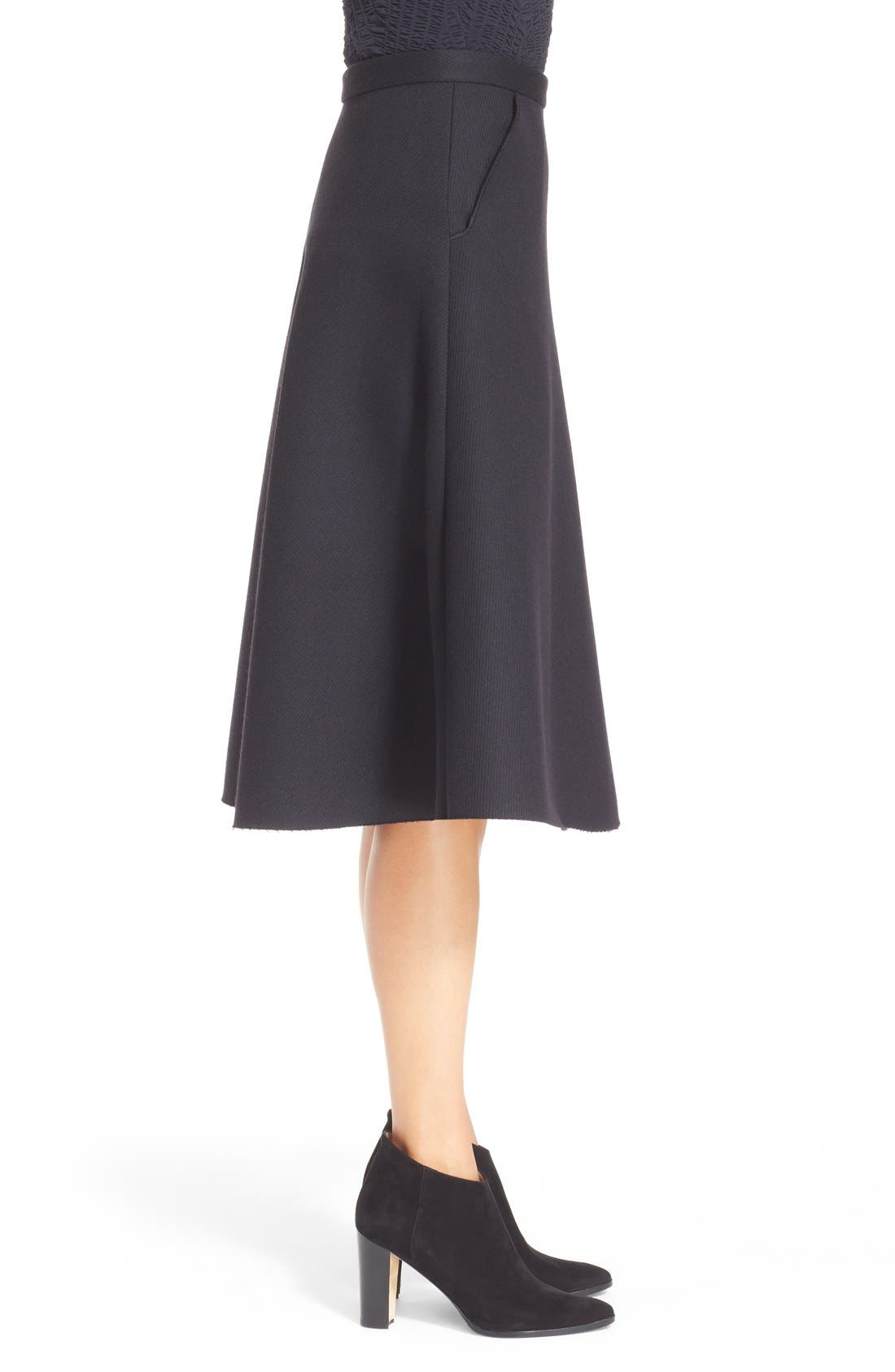 Alternate Image 5  - ELLERY 'Saturn' Flared Wool Blend Skirt