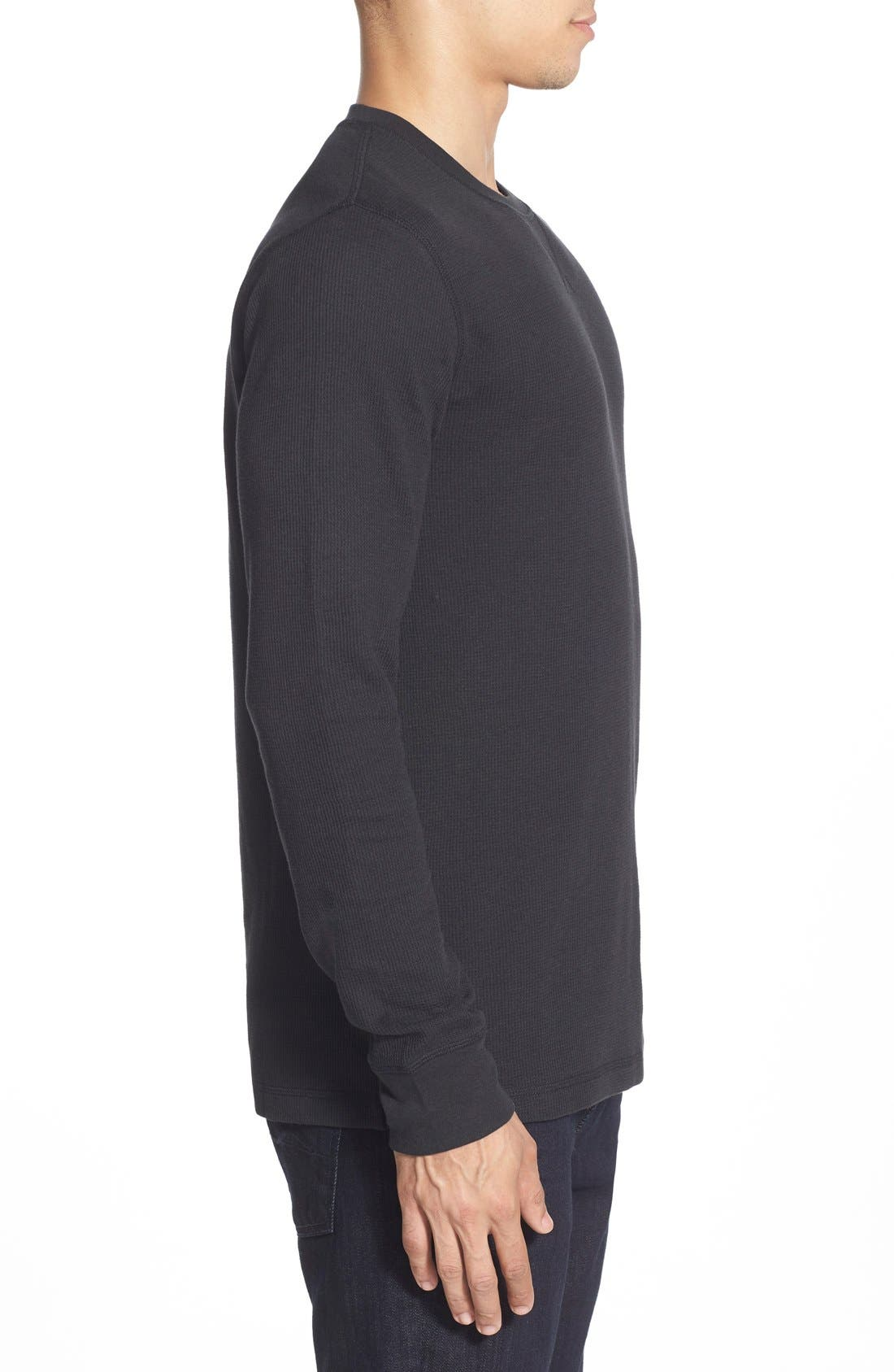 Alternate Image 3  - Nordstrom Men's Shop Waffle Knit Long Sleeve T-Shirt