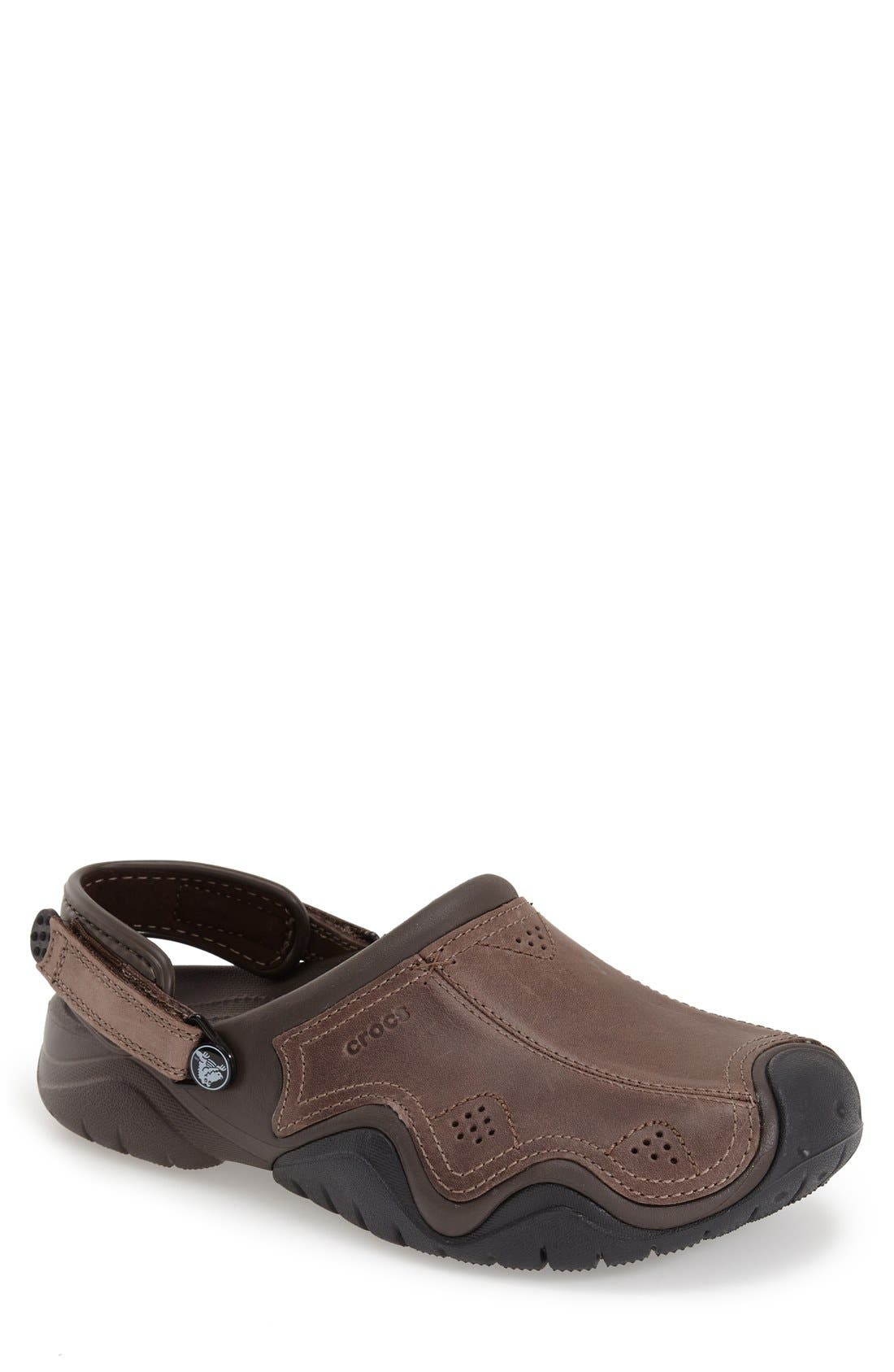 CROCS™ 'Swiftwater' Leather Clog