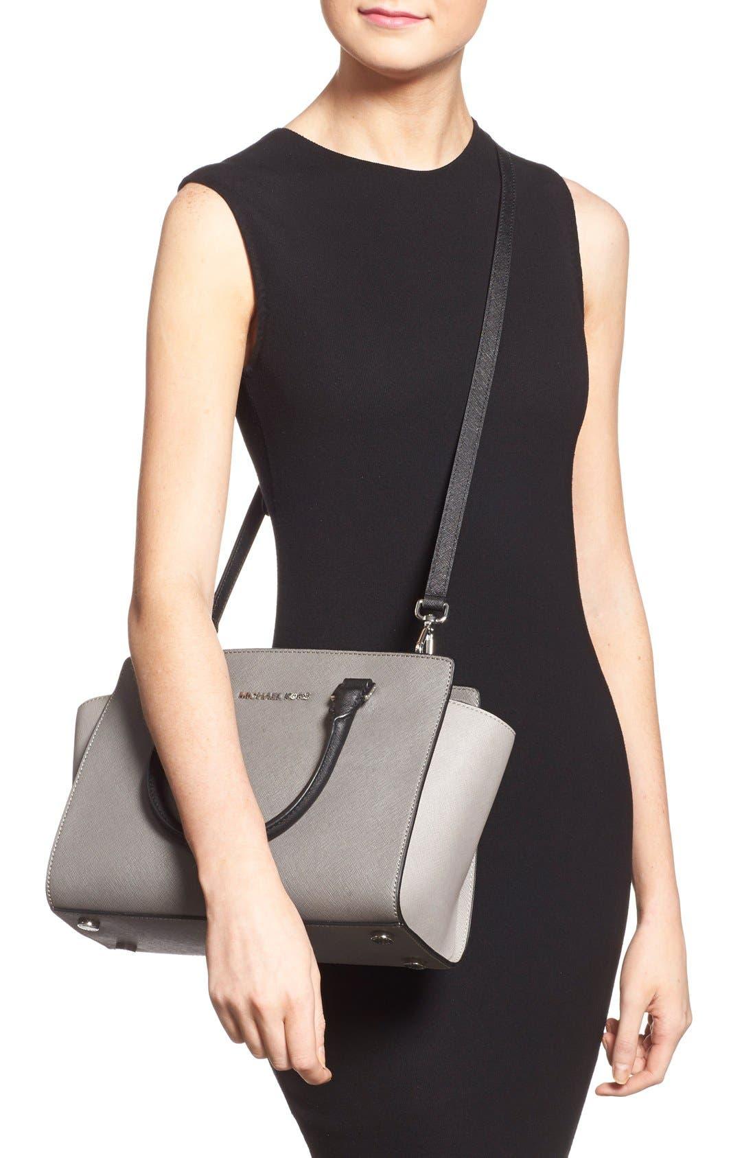 Alternate Image 2  - MICHAEL Michael Kors 'Selma - Medium' Saffiano Leather Crossbody Bag