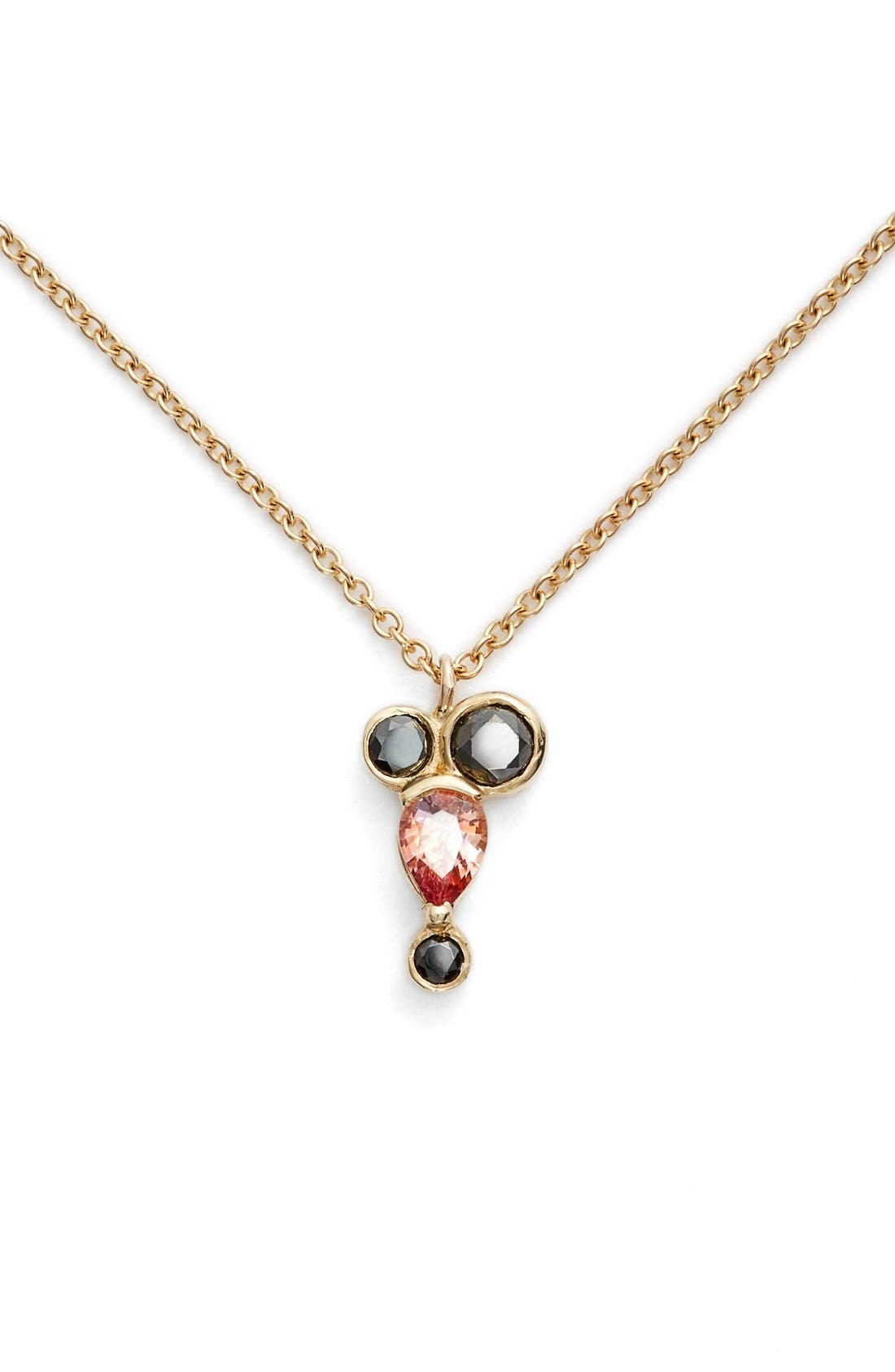 MOCIUN Peach Sapphire & Black Diamond Necklace (Nordstrom Exclusive)