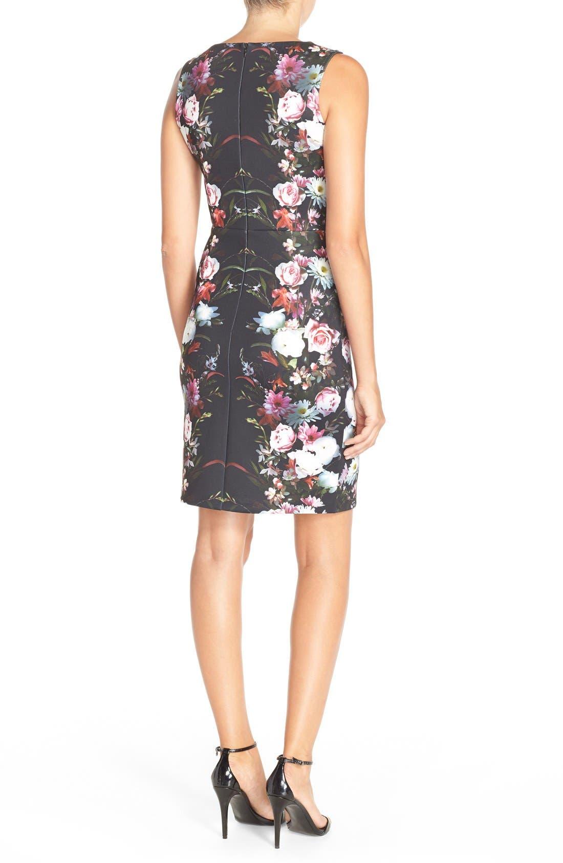 Alternate Image 2  - Felicity & Coco Floral Print Scuba Sheath Dress (Regular & Petite) (Nordstrom Exclusive)