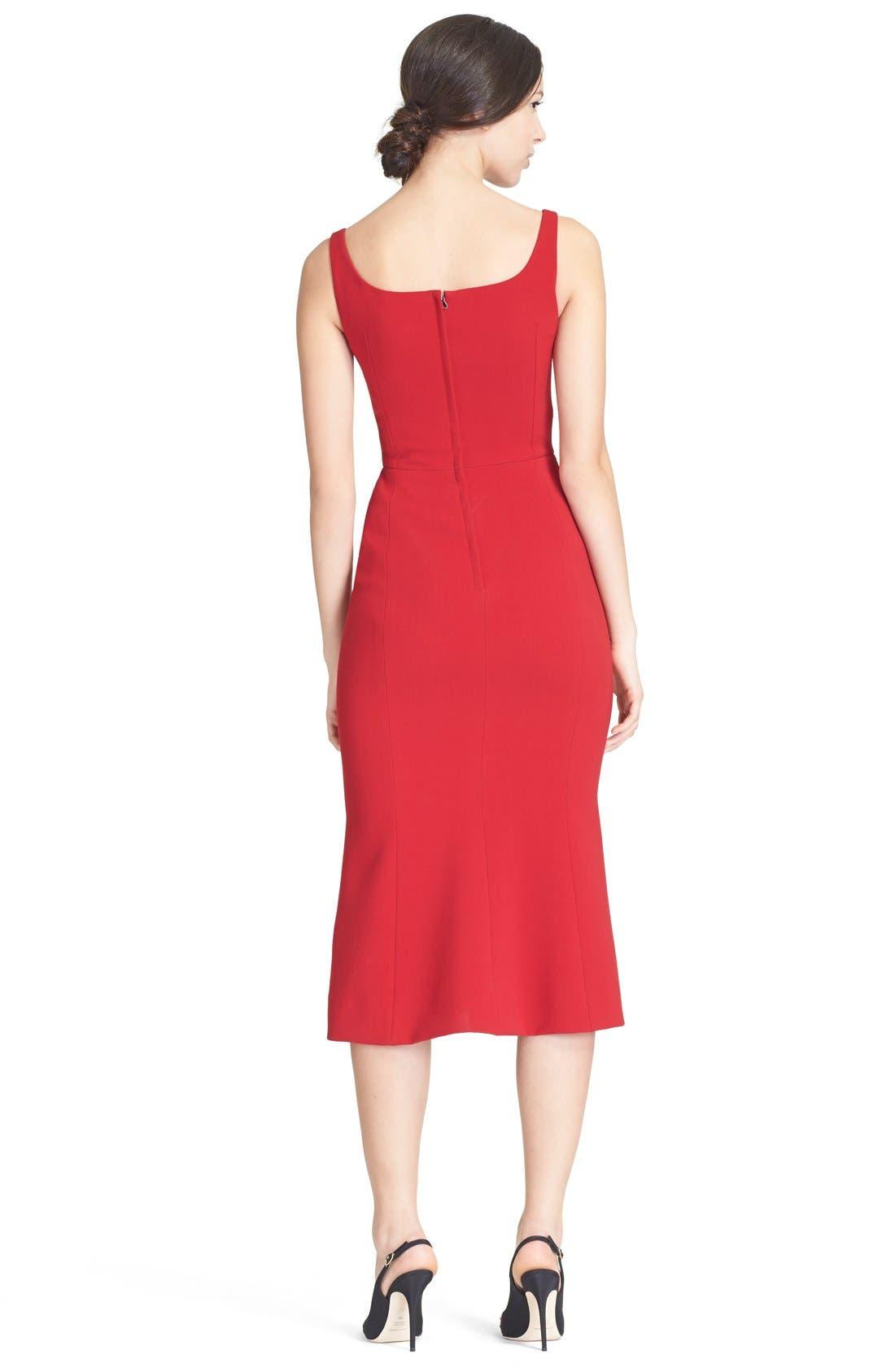 Alternate Image 2  - Dolce&Gabbana Square Neck Wool Crepe Dress