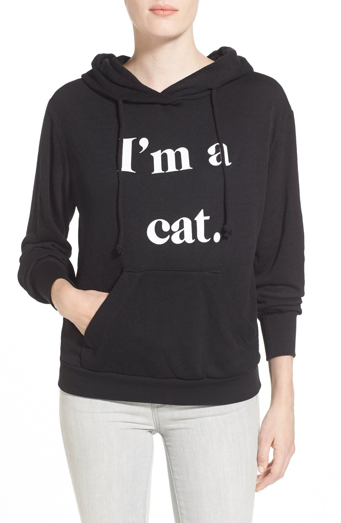 Alternate Image 1 Selected - Wildfox 'I'm a Cat' Hoodie