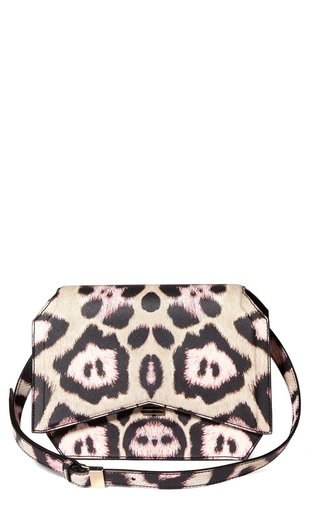 Alternate Image 1 Selected - Givenchy 'Medium Bow-Cut' Jaguar Print Leather Shoulder Bag