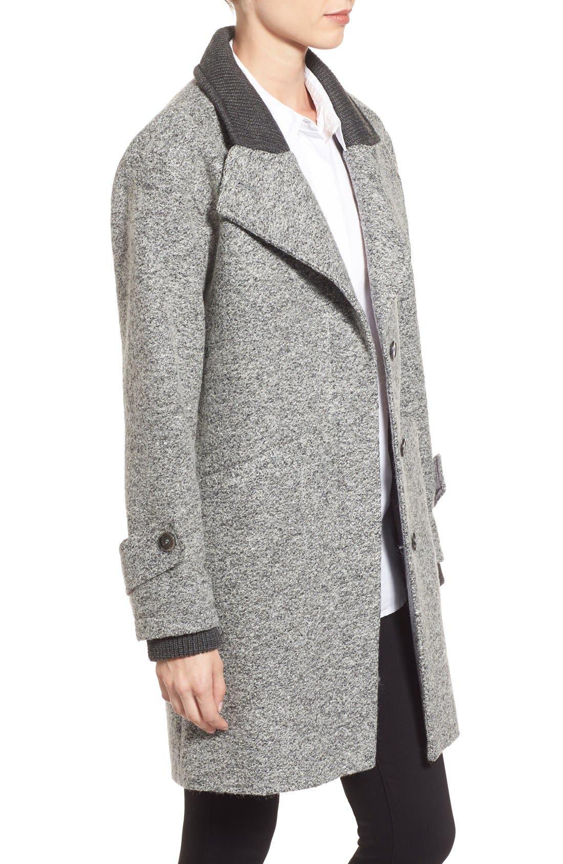 Alternate Image 3  - French Connection Tweed Boyfriend Coat