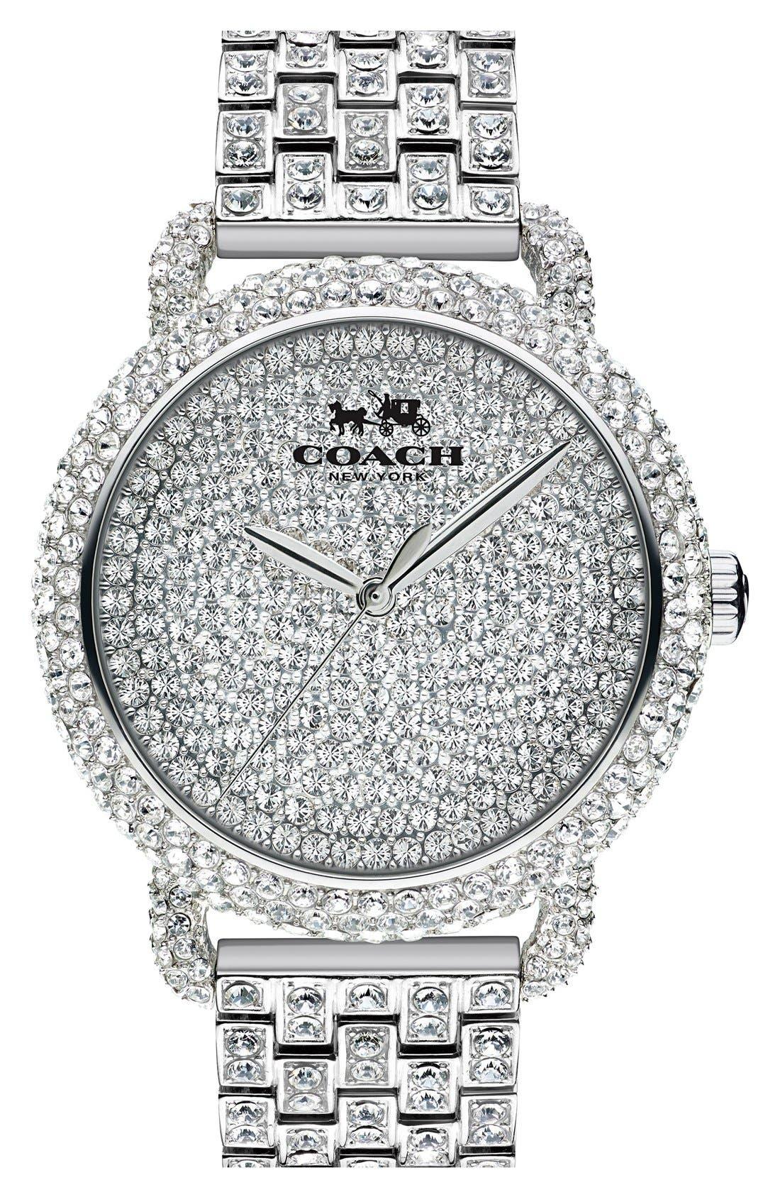 COACH 'Delancey' Crystal Bracelet Watch, 36mm
