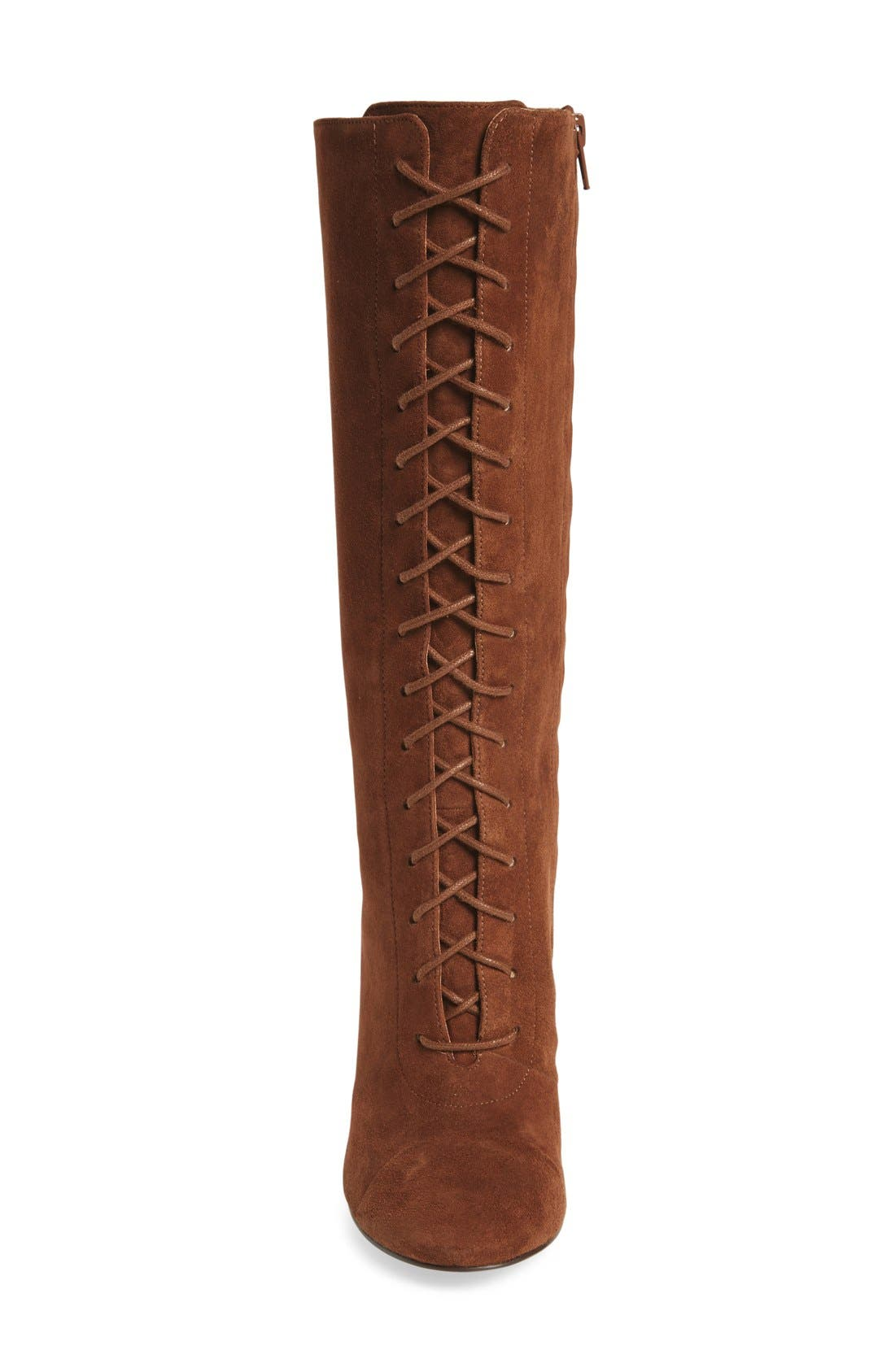 Alternate Image 3  - Nine West 'Waterfall' Lace-Up Knee High Boot (Women)