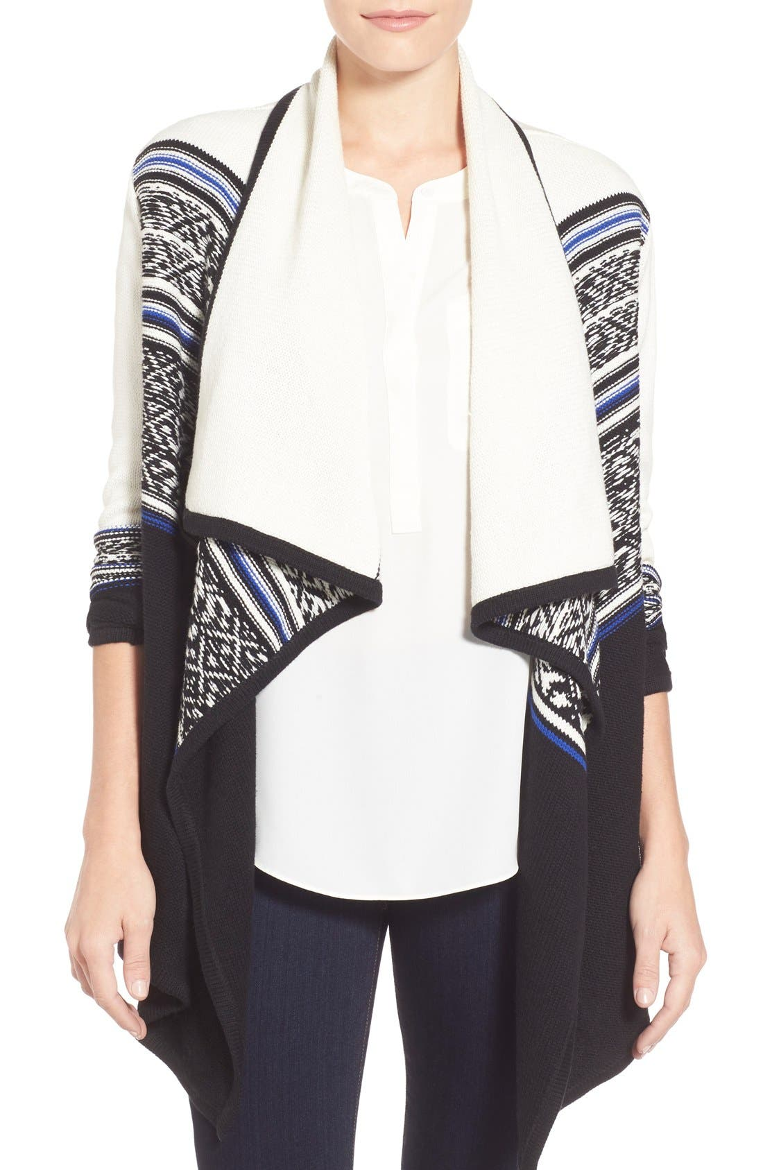 Alternate Image 1 Selected - NYDJ 'Apres' Jacquard Cardigan